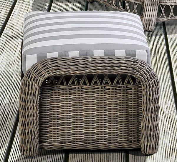 Britt Ottoman with Cushion Fabric: Aquamarine