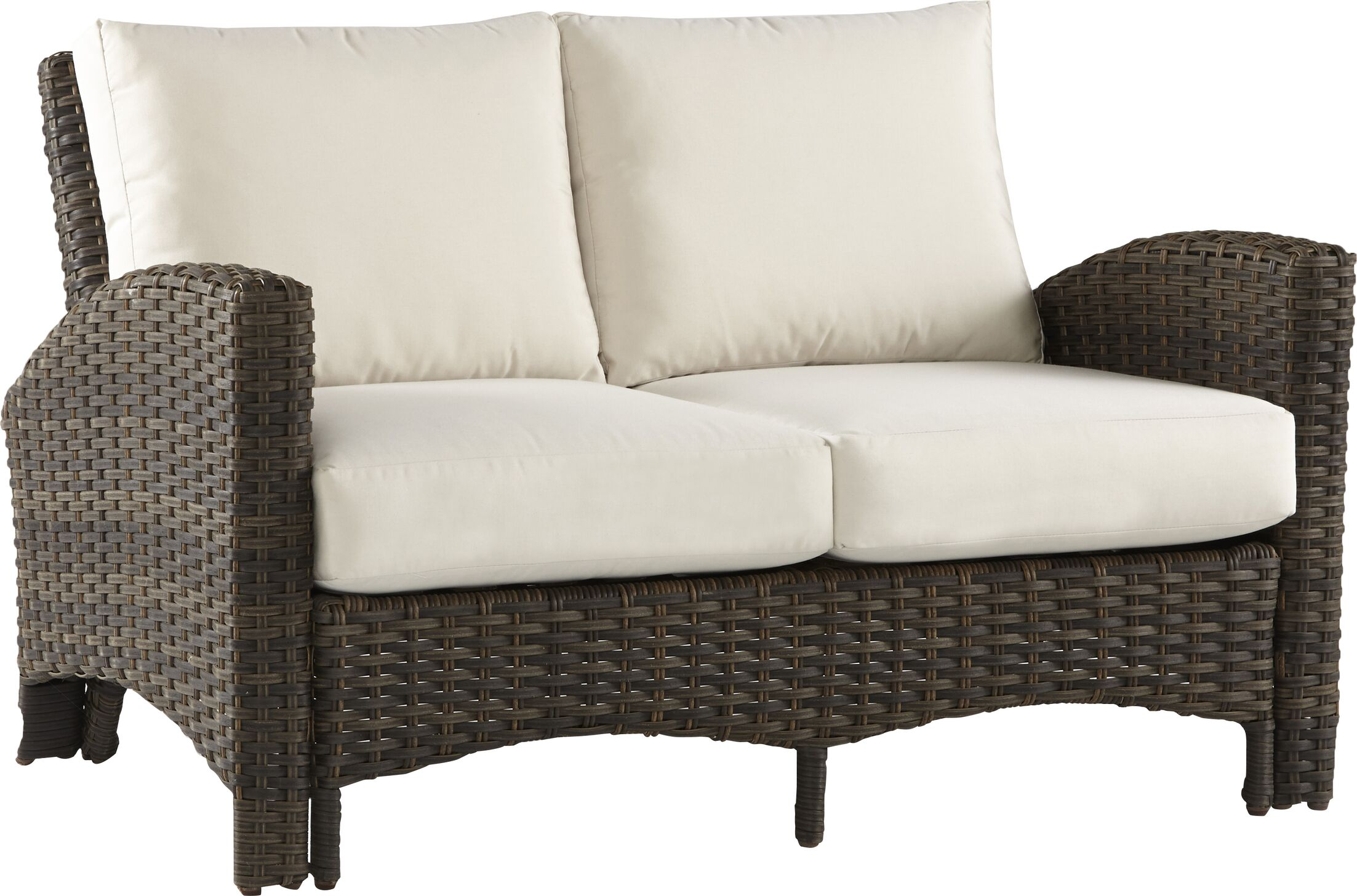 Allerone Loveseat with Cushions Color: Canvas