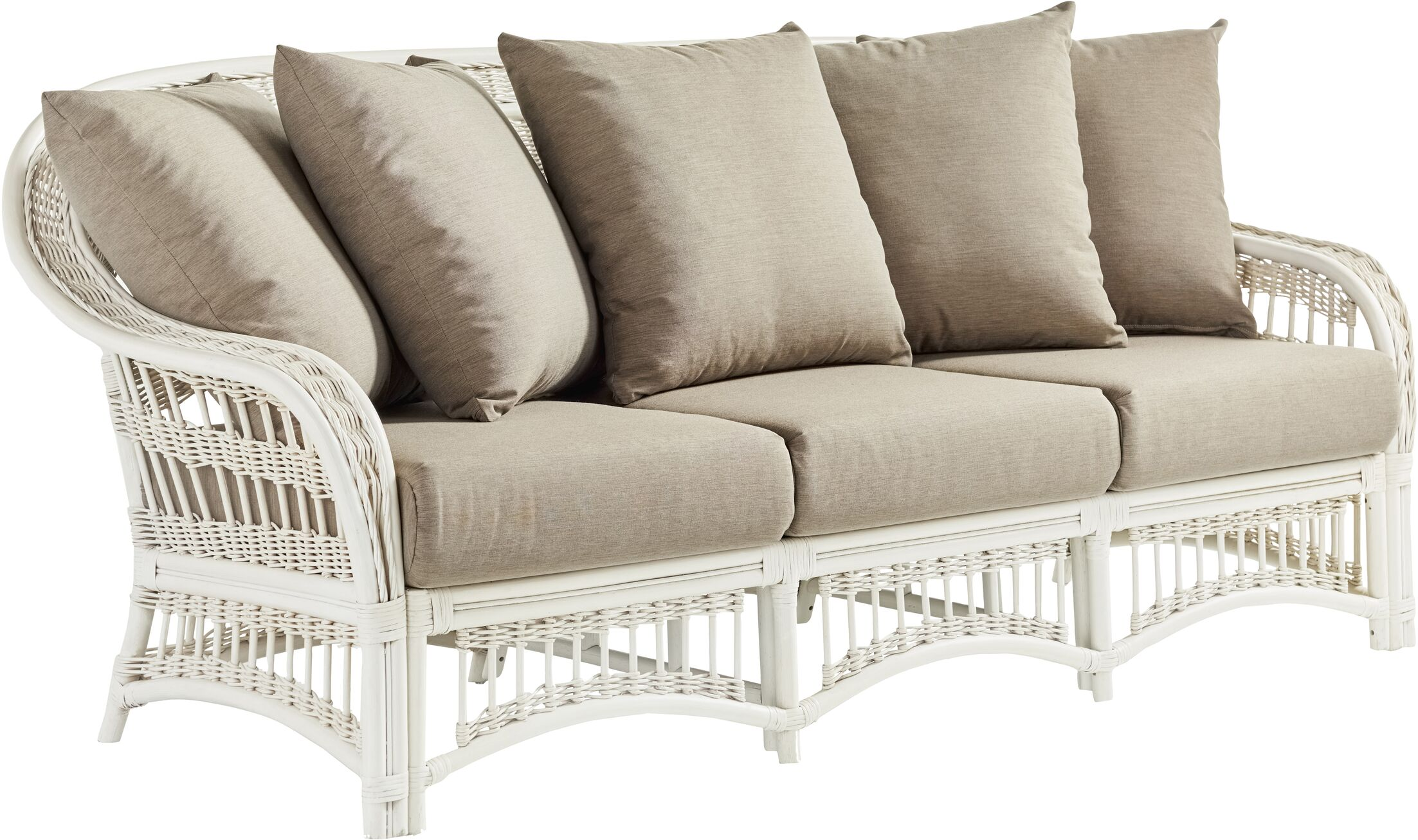 Staats Sofa with Cushions Frame Color: Whitewash, Cushion Color: Meeks Shell