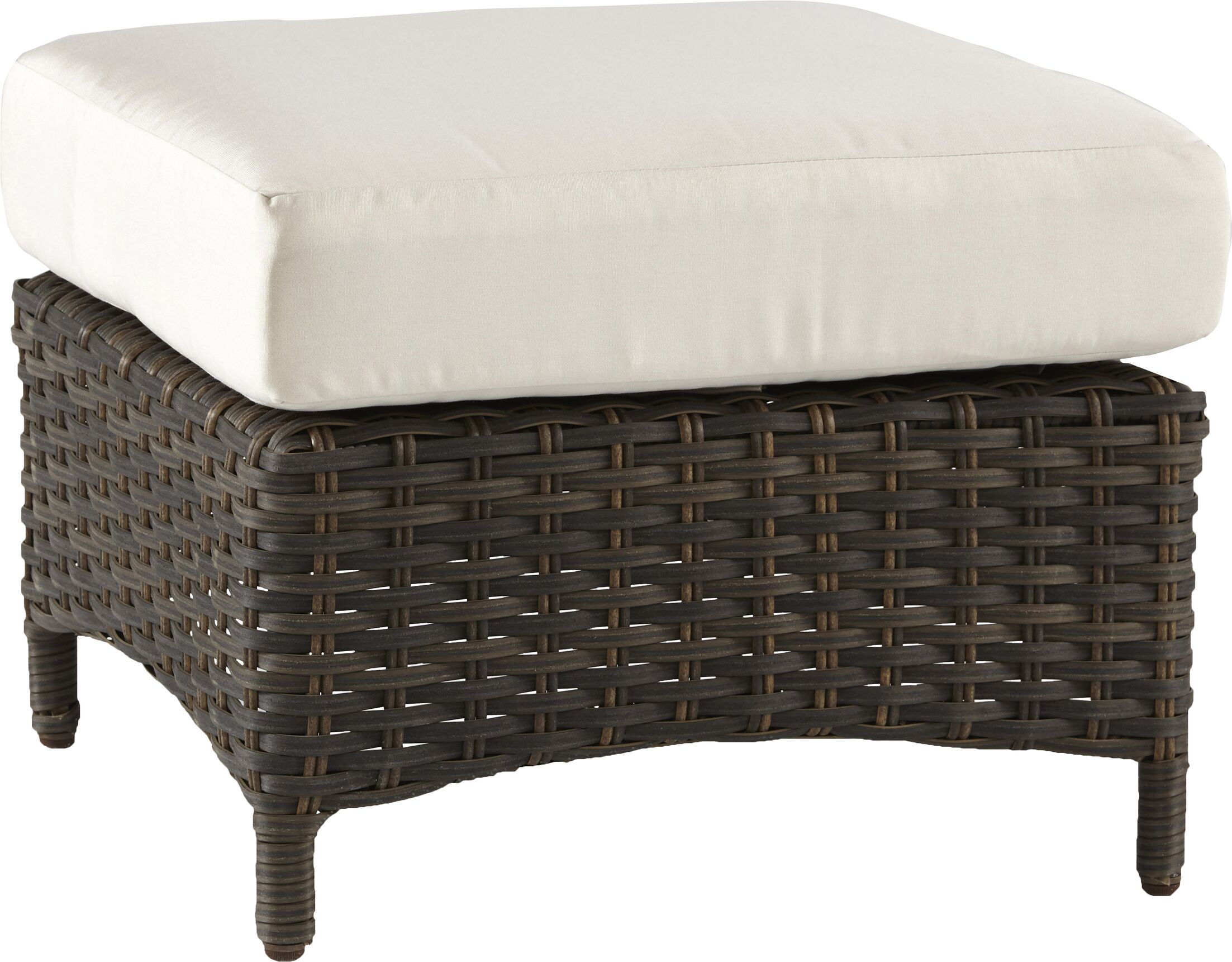 Allerone Ottoman with Cushion Fabric: Cayenne