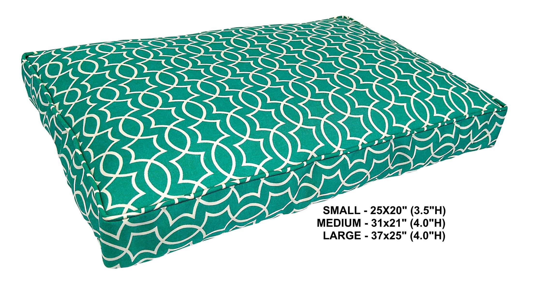 Titan Indoor/Outdoor Dog Bed Color: Peacock, Size: Mini (25