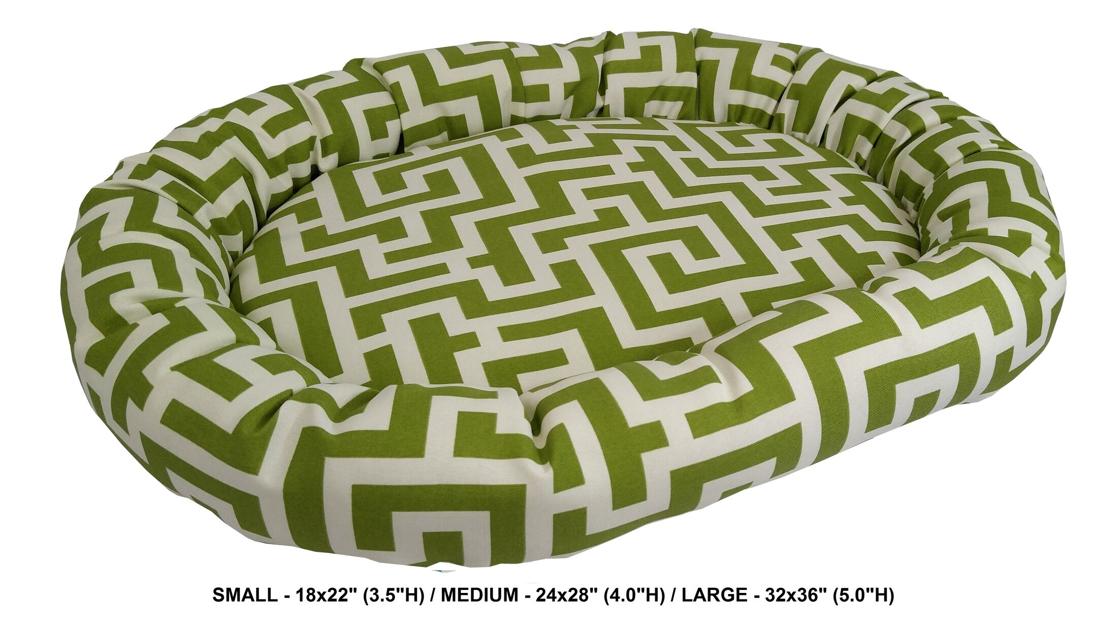 Corrine Keys Indoor/Outdoor Bolster Pet Bed Color: Kiwi, Size: Medium