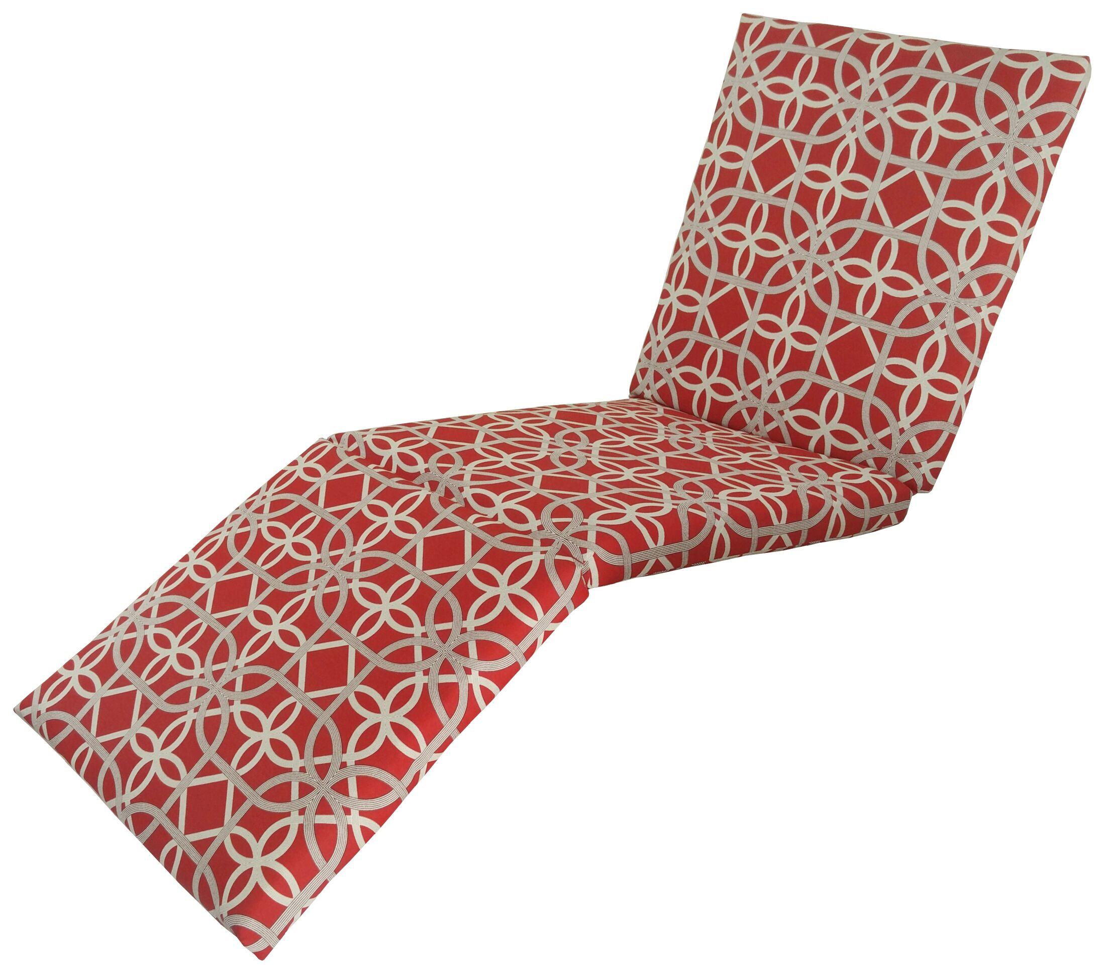 Marissa Indoor/Outdoor Chaise Lounge Cushion Fabric: Cherry