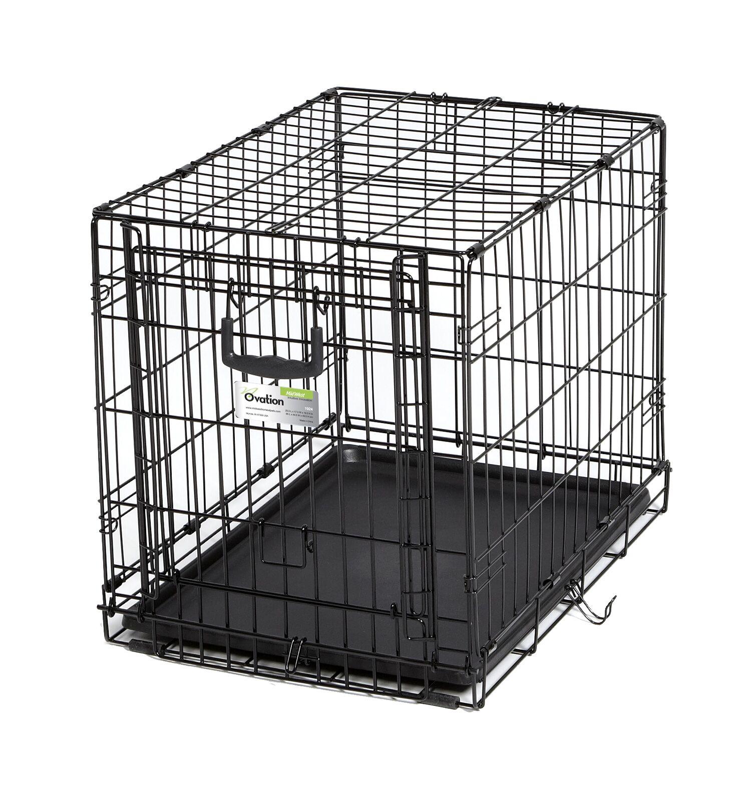 Ovation Single Door Pet Crate Size: 24