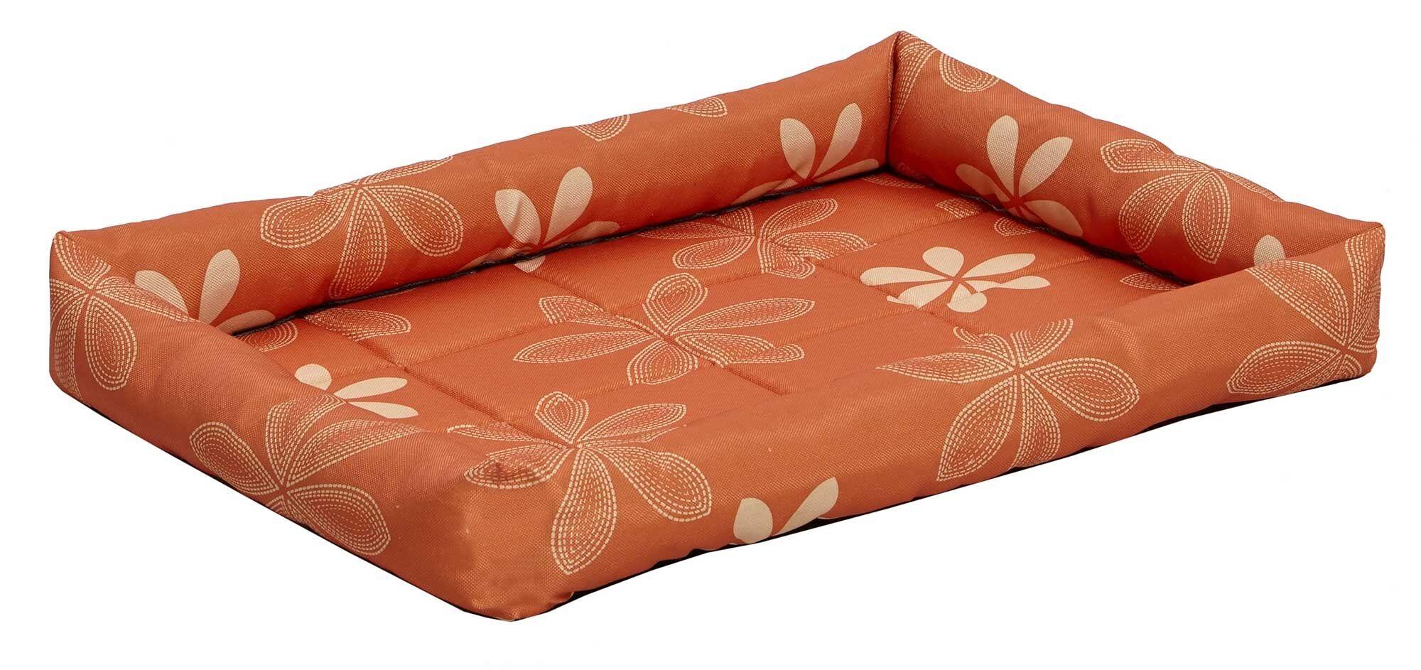 Rover Paradise Floral Pet Bed Color: Orange, Size: 23.75