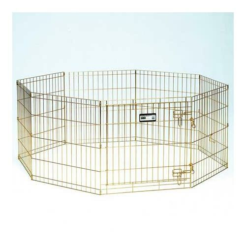 Pet Exercise Metal Yard Kennel Size: 36