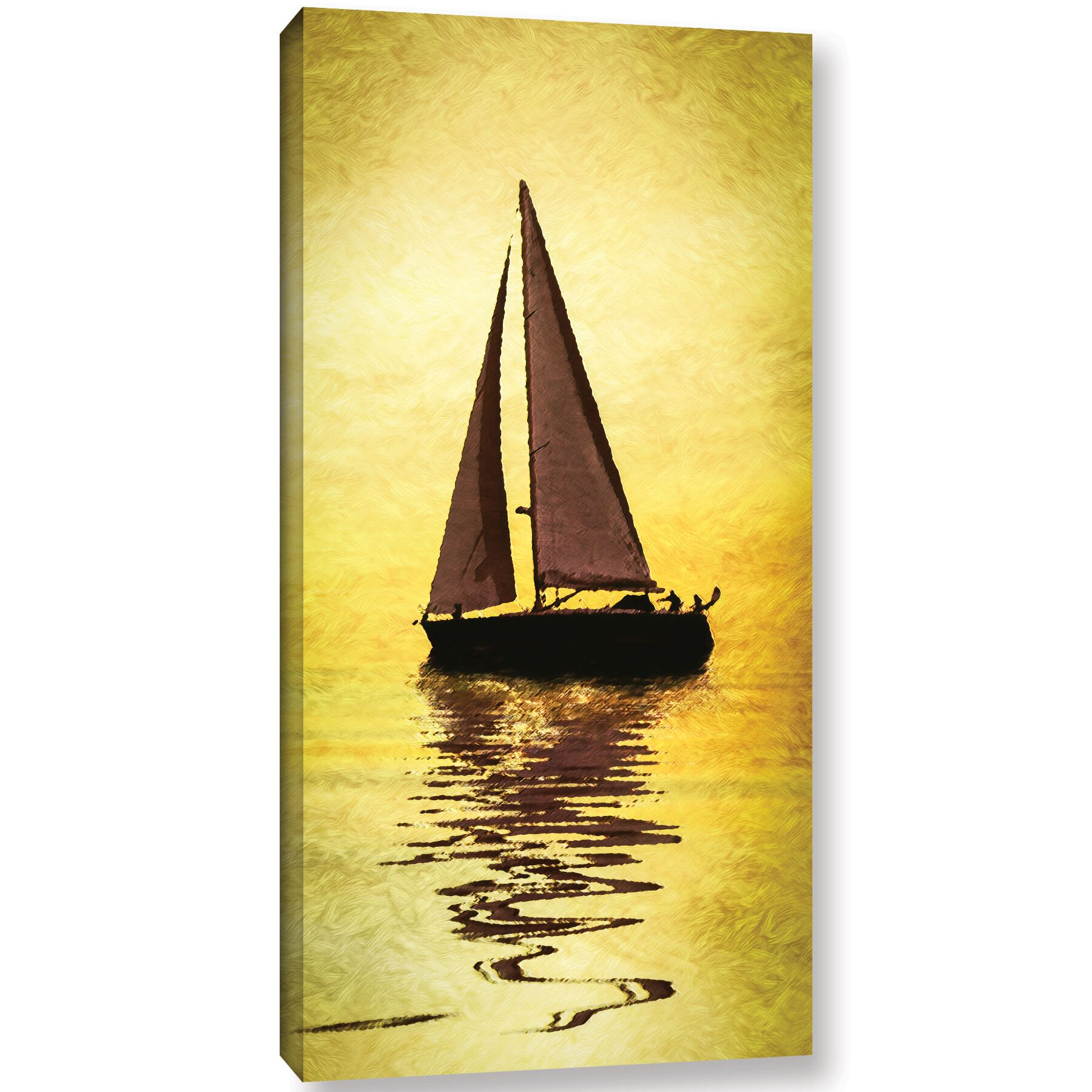 'Sailing The Mediterranean'  Painting Print On Wrapped Canvas Size: 48