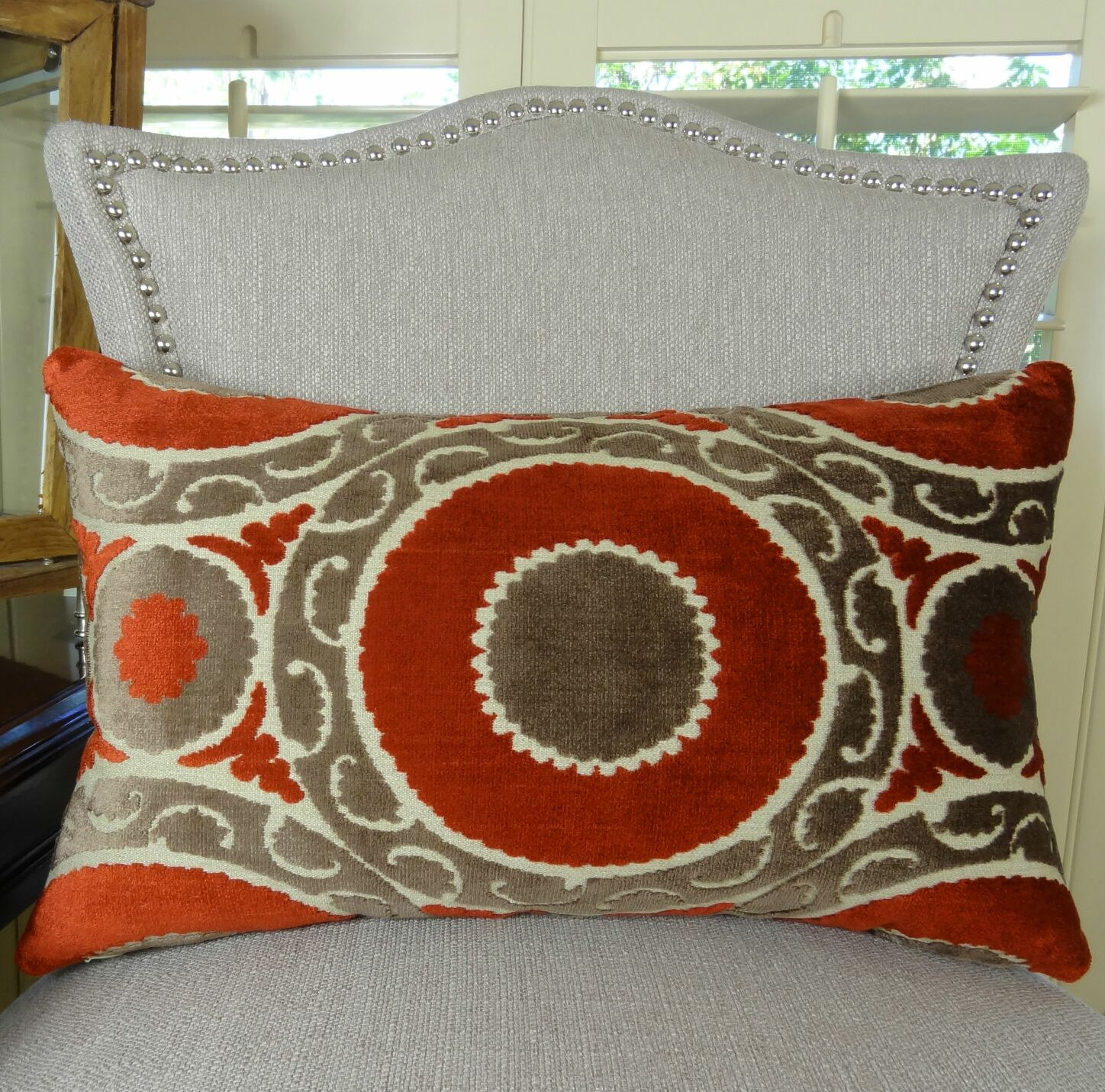 Pomegranate Lumbar Pillow Size: 12