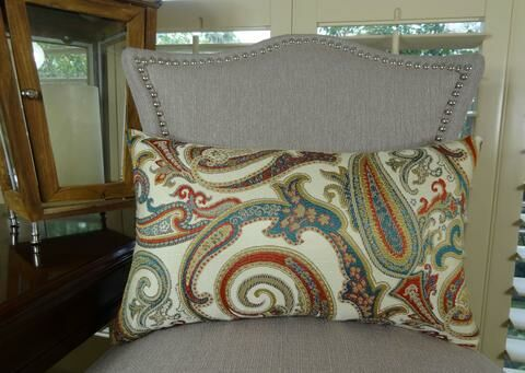 Paisley Cove Double Sided Lumbar Pillow Size: 12