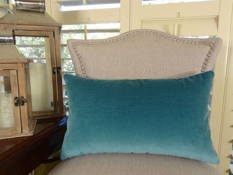 Contentment Peacock Handmade Cotton Throw Pillow Size: 20