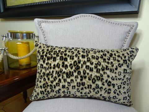 Cheetah Handmade Outdoor Throw Pillow Size: 20