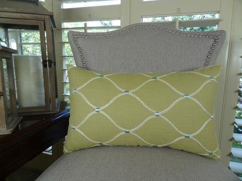 Dewdrop Handmade Throw Pillow Size: 12