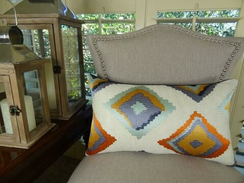 Native Trail Cayenne Handmade Linen Throw Pillow Size: 20