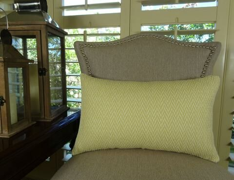 Nesting Zigzag Handmade Throw Pillow Size: 20