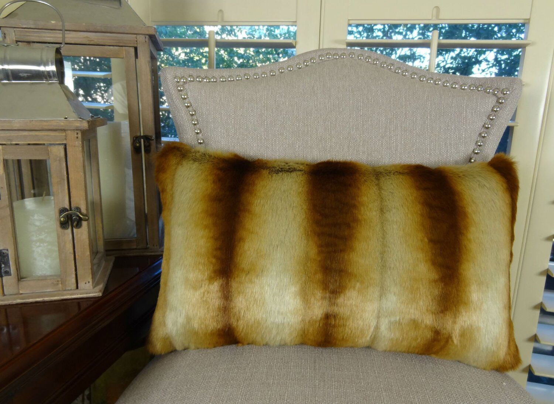 Sheared Chinchilla Handmade Throw Pillow Size: 12