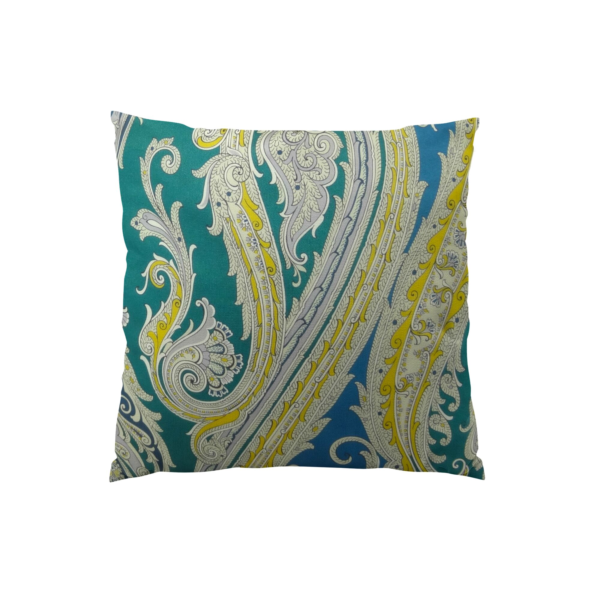 Fun Paisley Double Sided Throw Pillow Size: 18