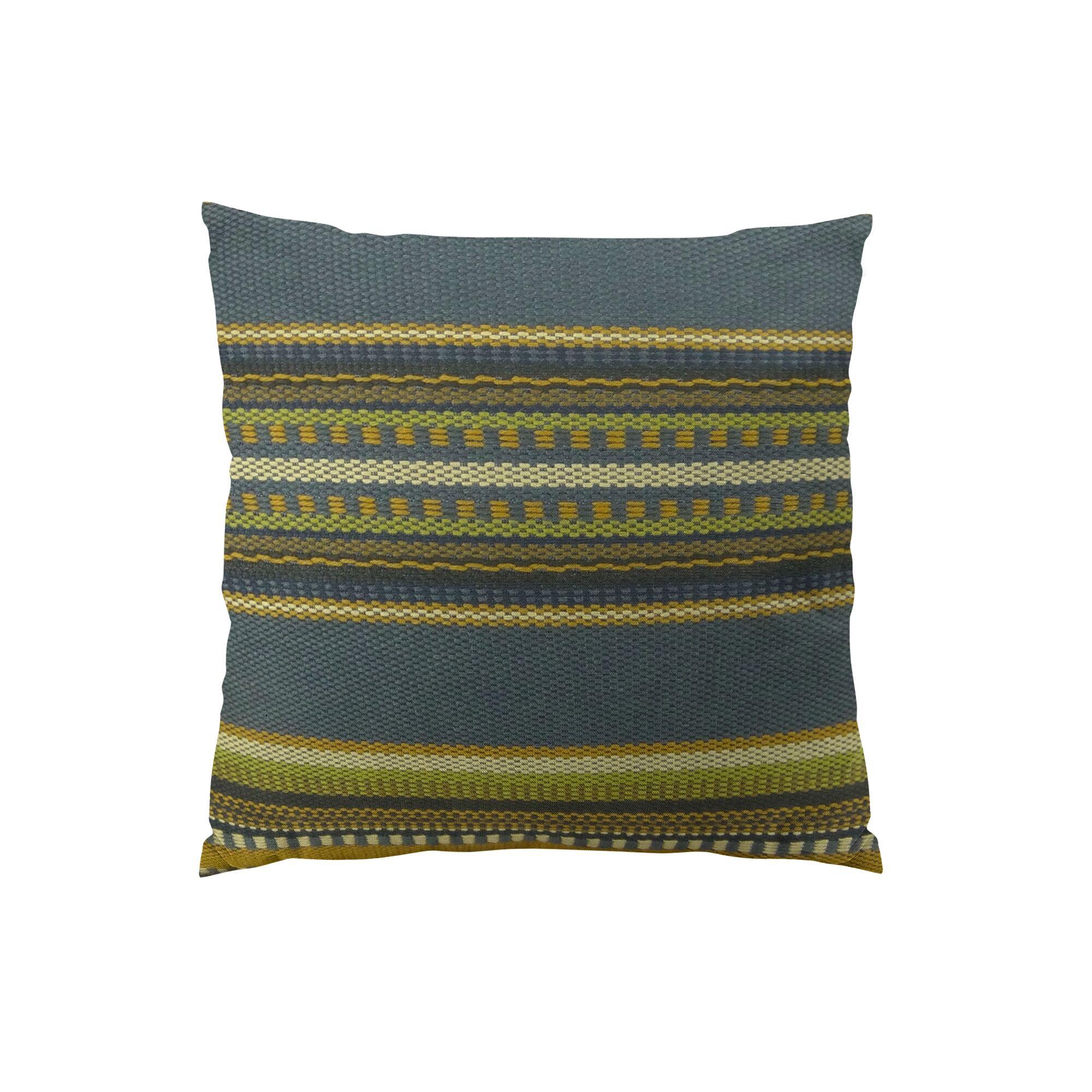 Chic Stripe Handmade Throw Pillow  Size: 16