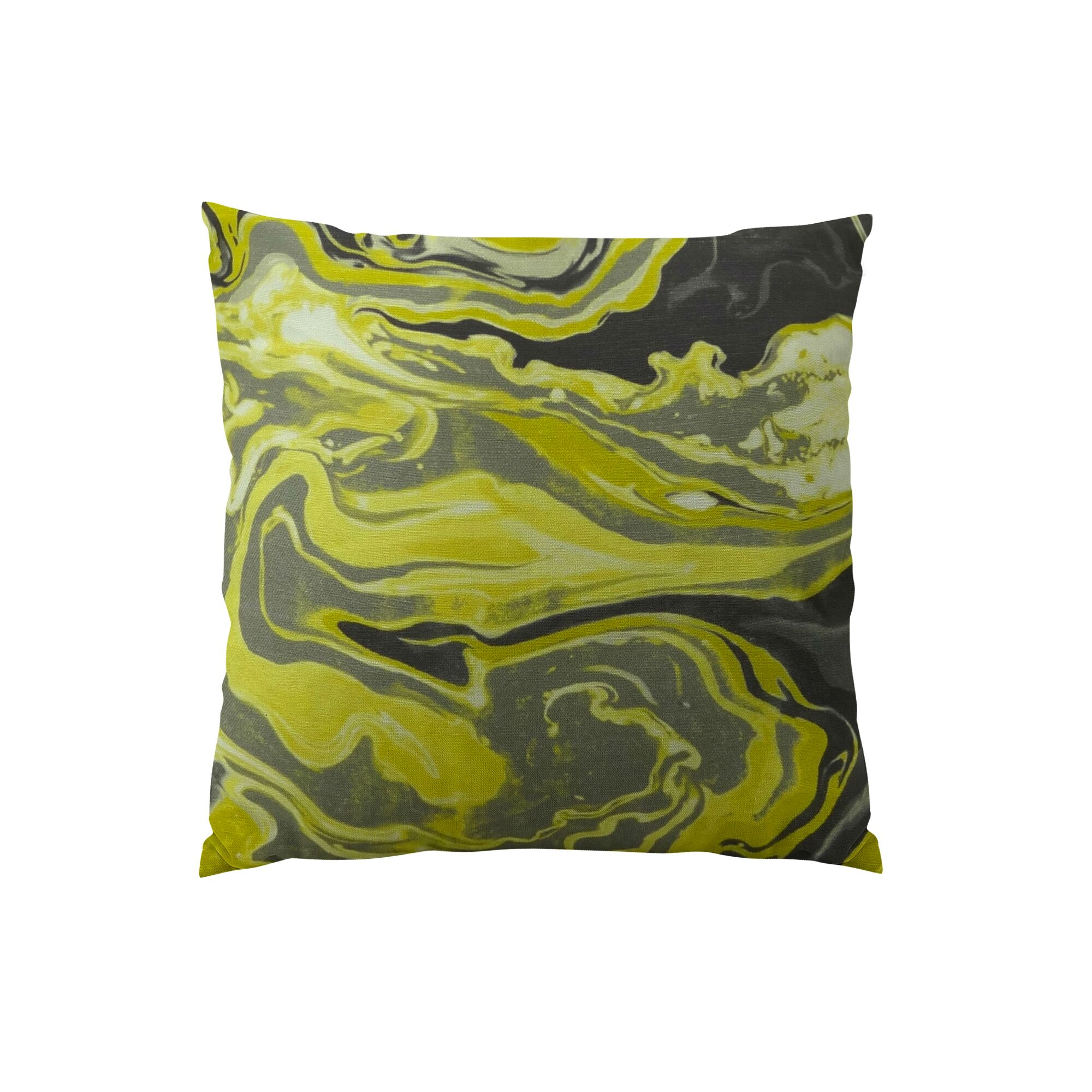 Medici Marble Ink Handmade Throw Pillow Size: 22