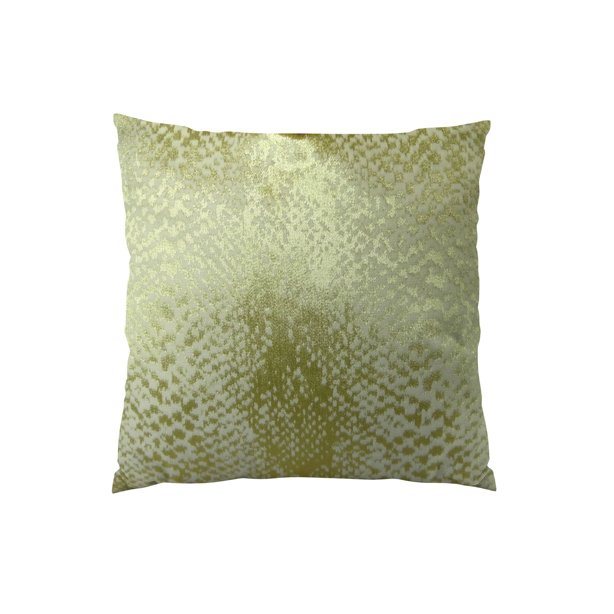 Hidden World Handmade Throw Pillow Color: Silver, Size: 24