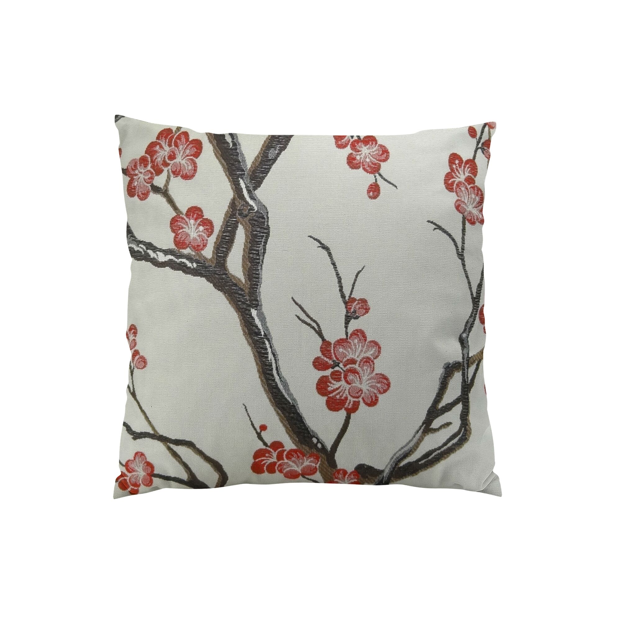 Japanese Blossom Throw Pillow Size: 20