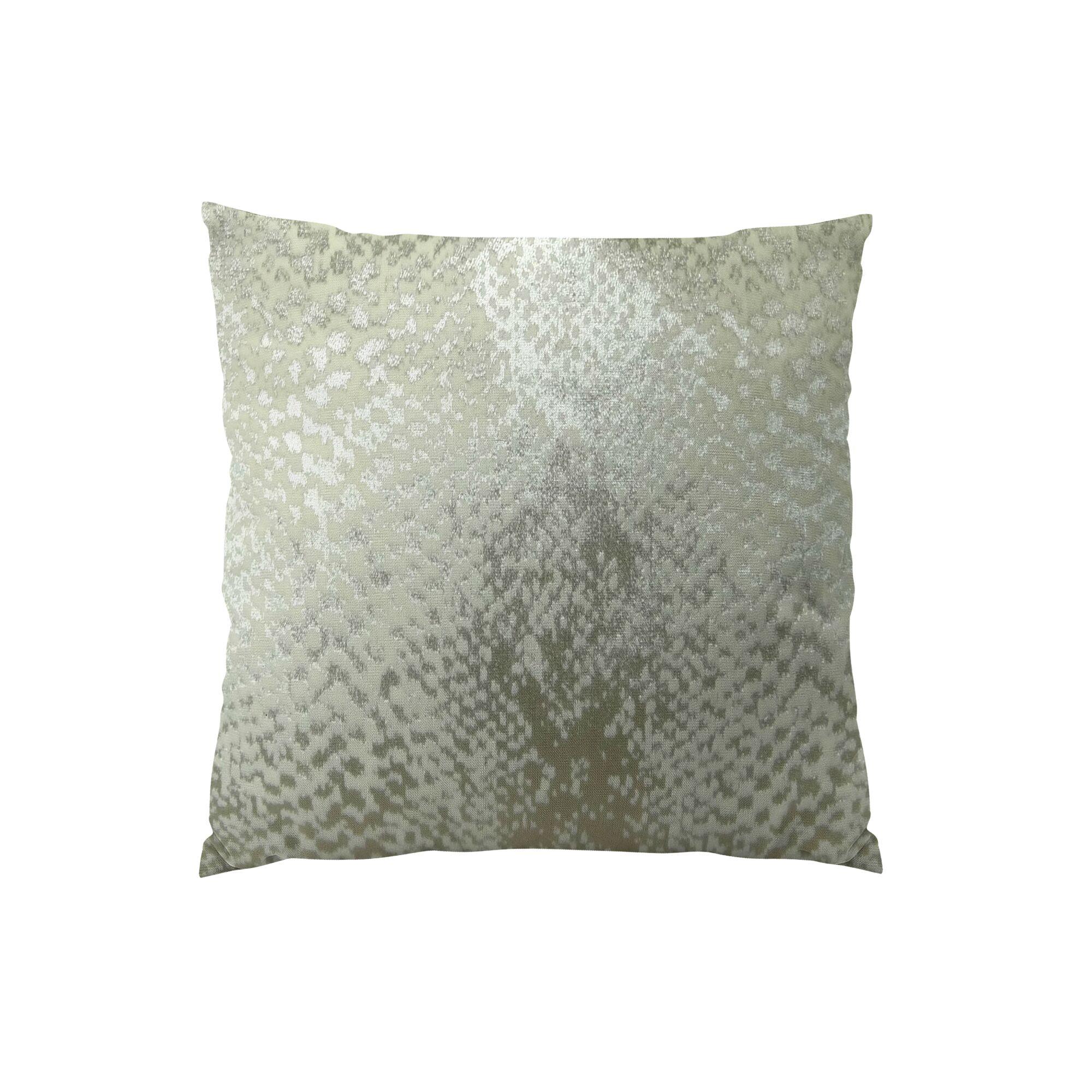 Hidden World Handmade Throw Pillow Color: Silver, Size: 12