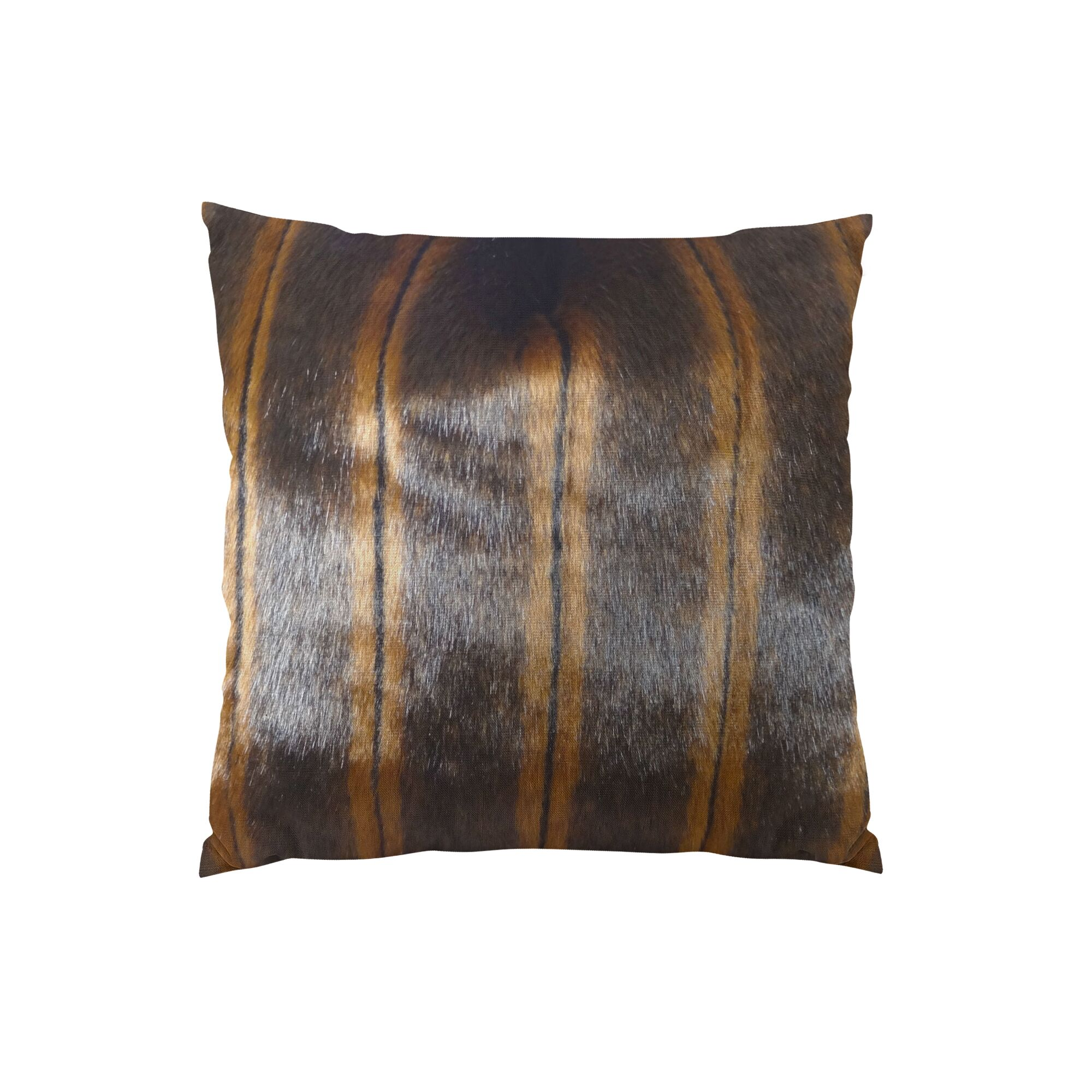 Fancy Mink Handmade Throw Pillow Size: 20