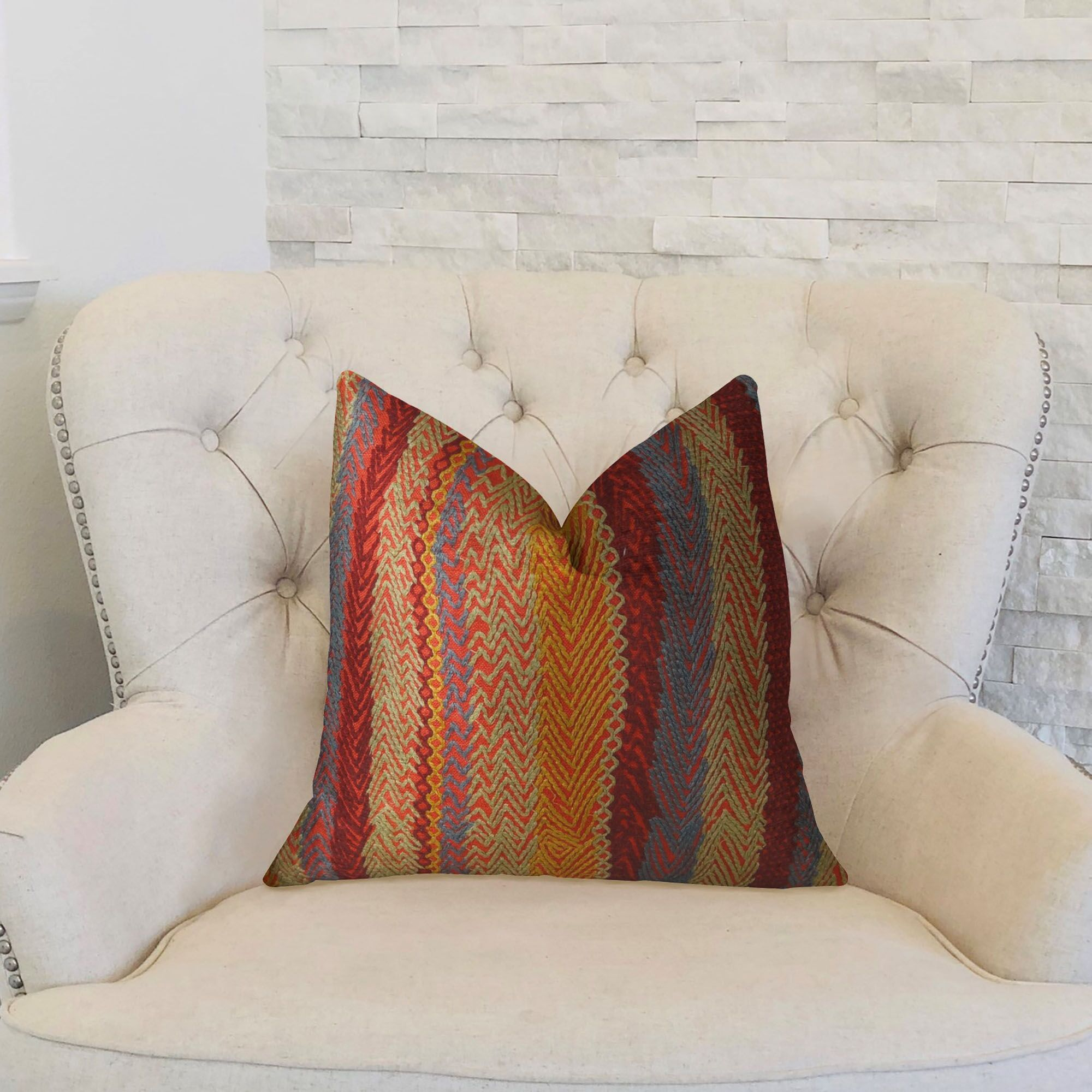 Earth Double Sided Lumbar Pillow Size: 12