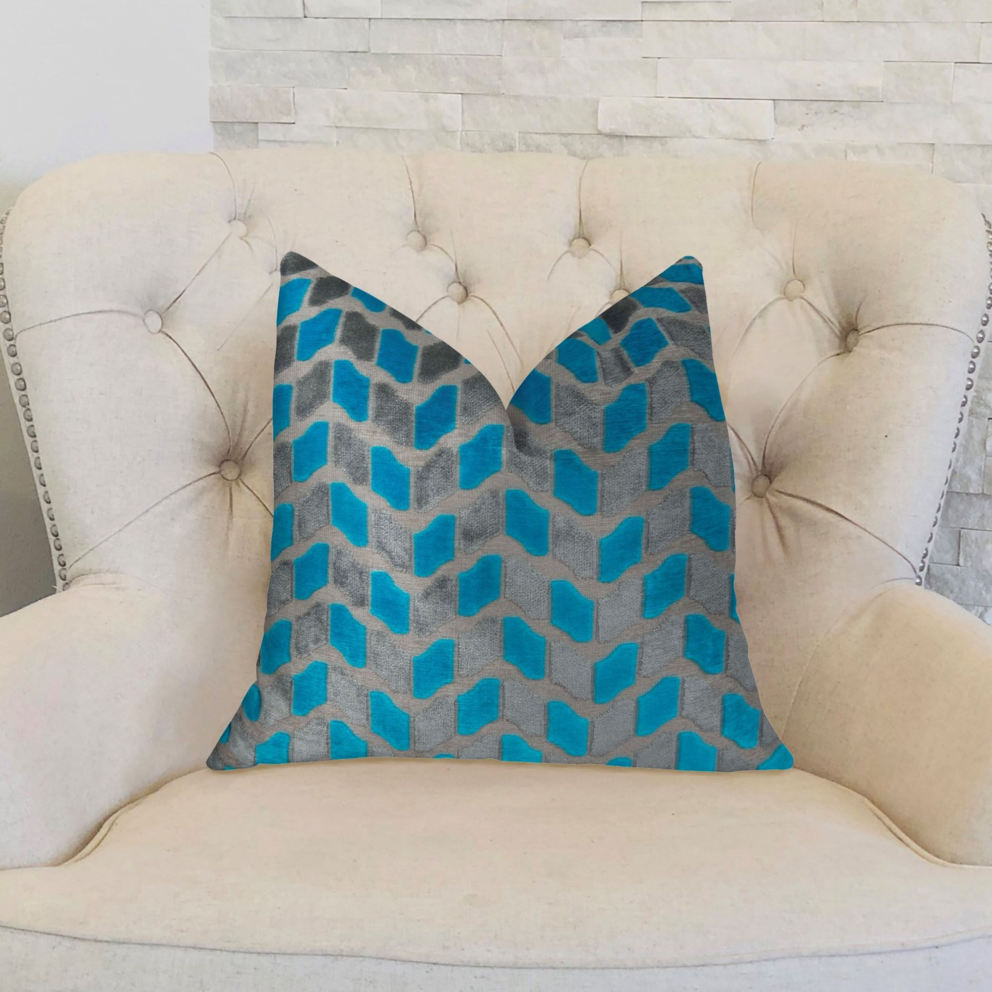 Plutus Deep Sea Dive Handmade Throw Pillow Size: 16