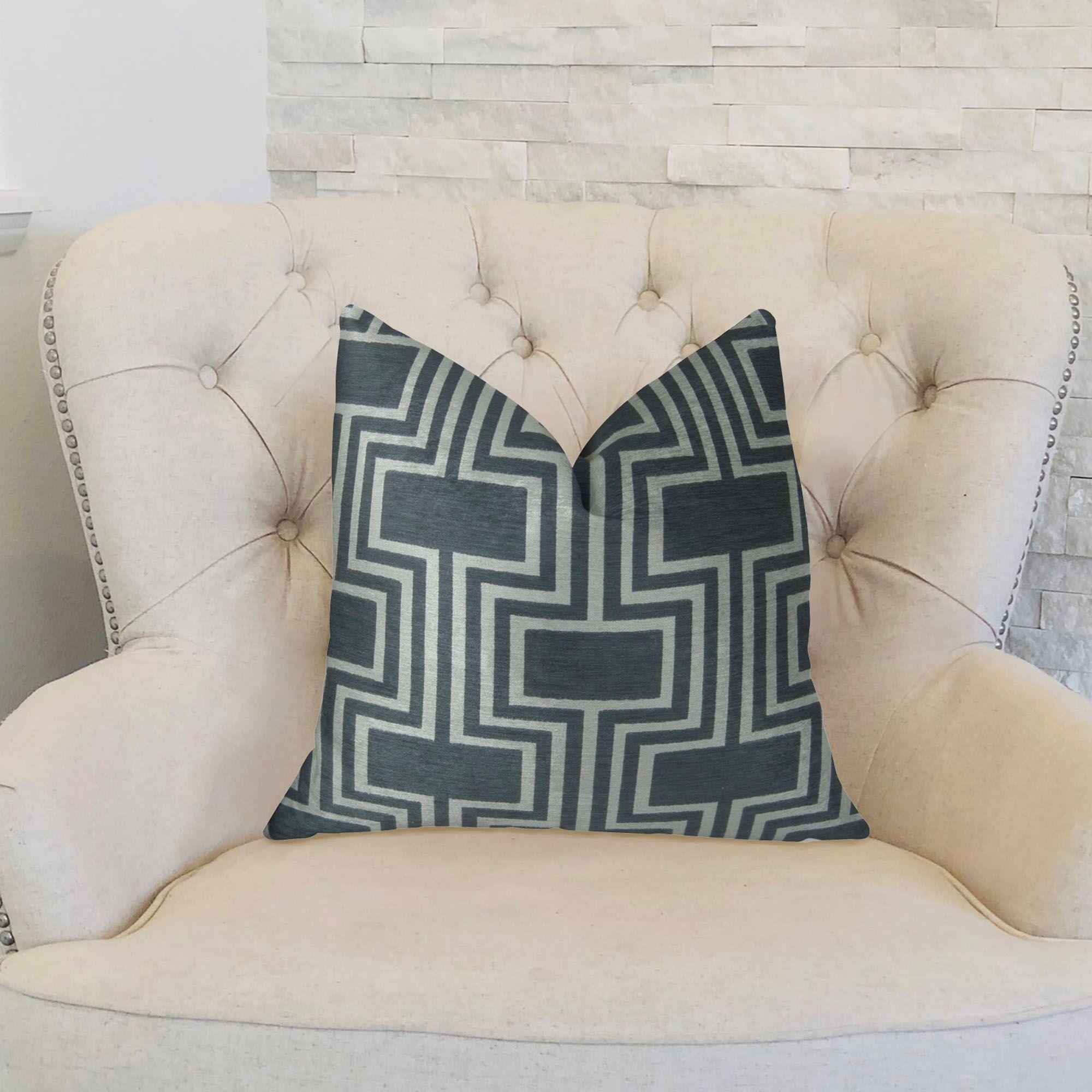 Conduit Handmade Throw Pillow  Size: 24