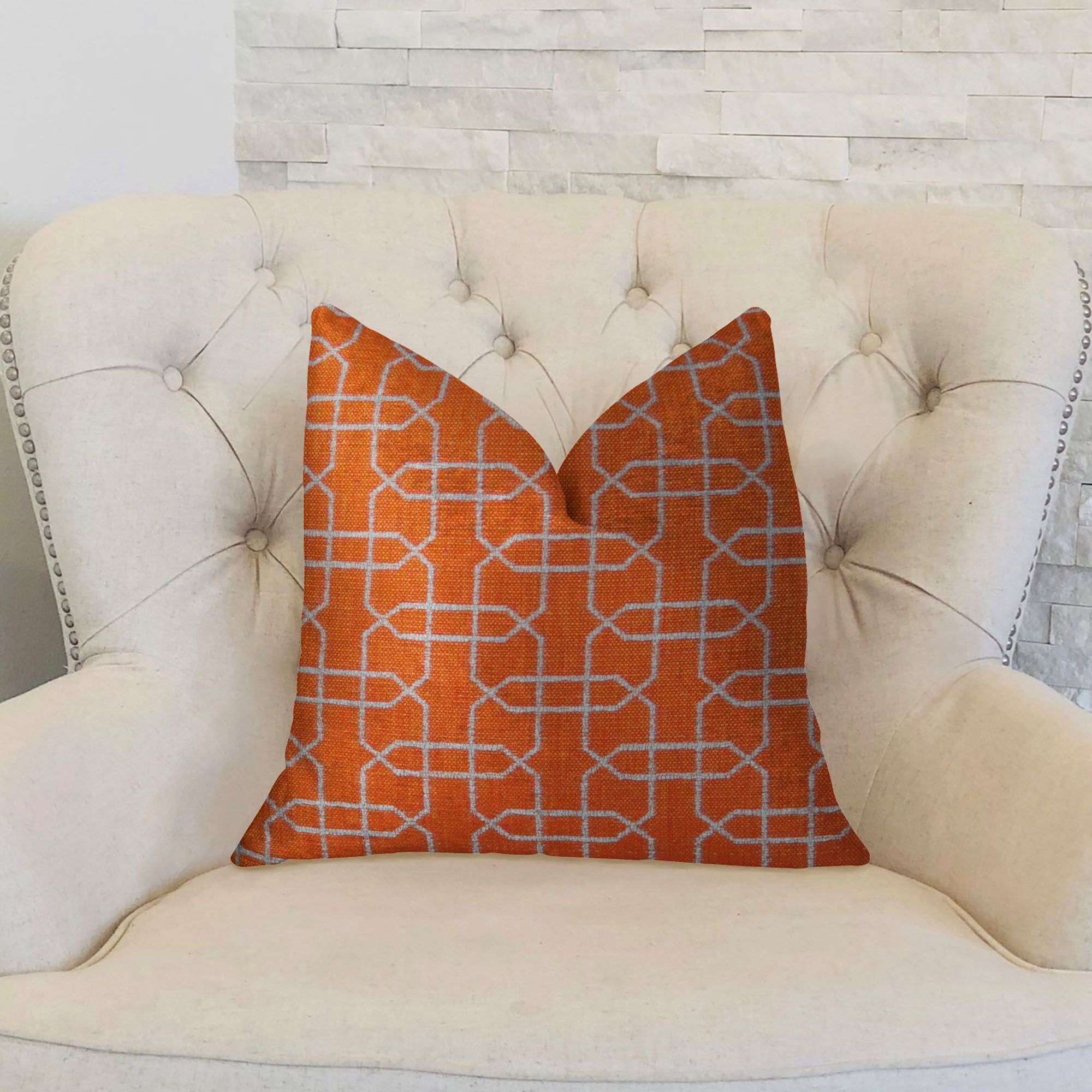Ardmore Persimmon Handmade Throw Pillow Size: 20