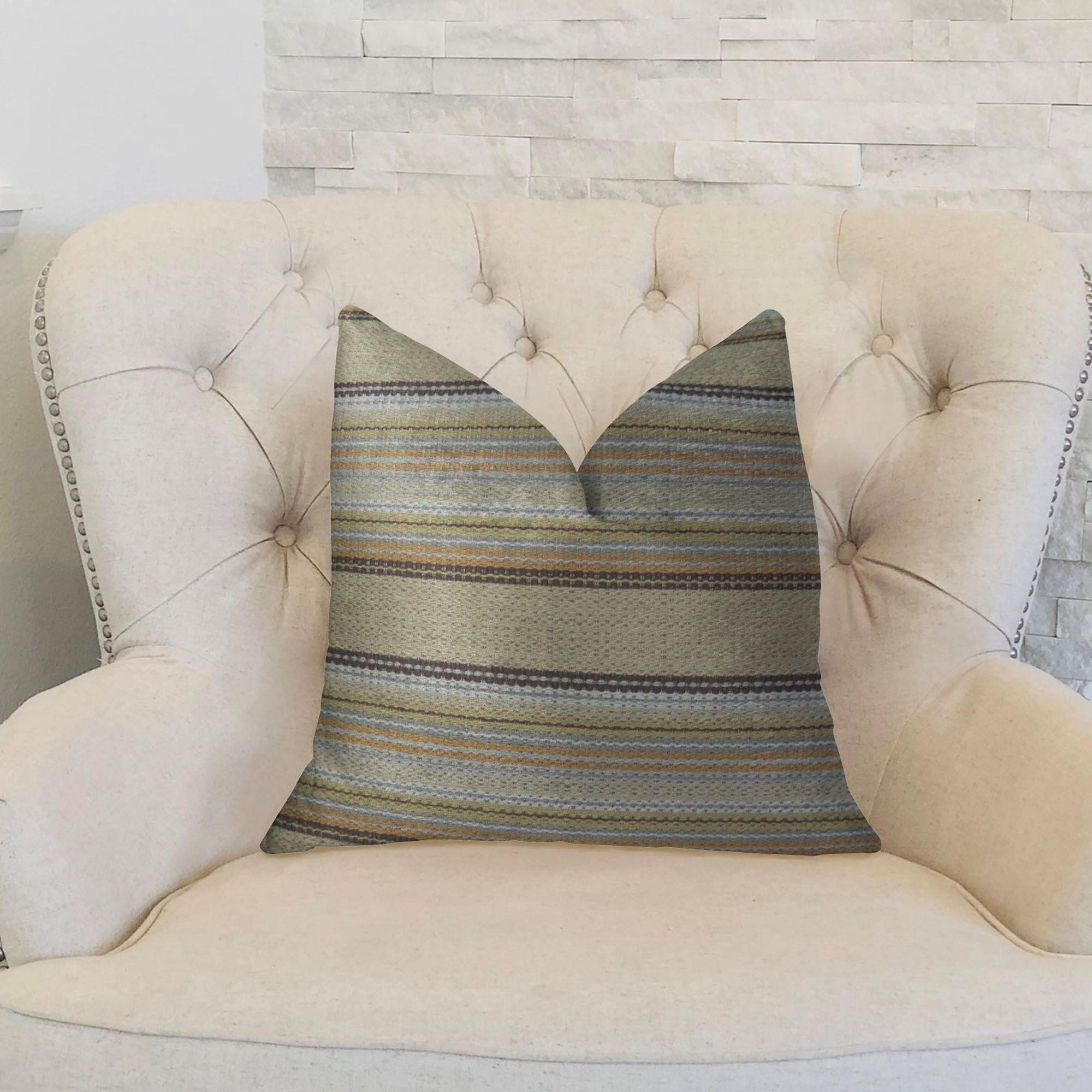 Camp Evergreen Handmade Throw Pillow  Size: 24