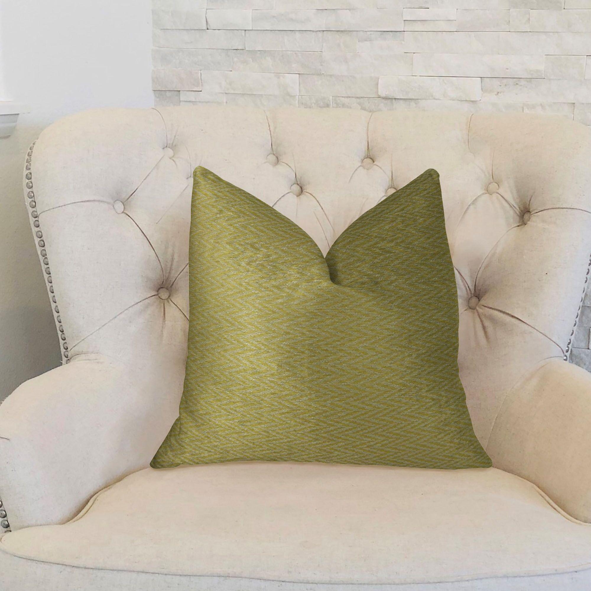 Nesting Zigzag Handmade Throw Pillow Size: 22