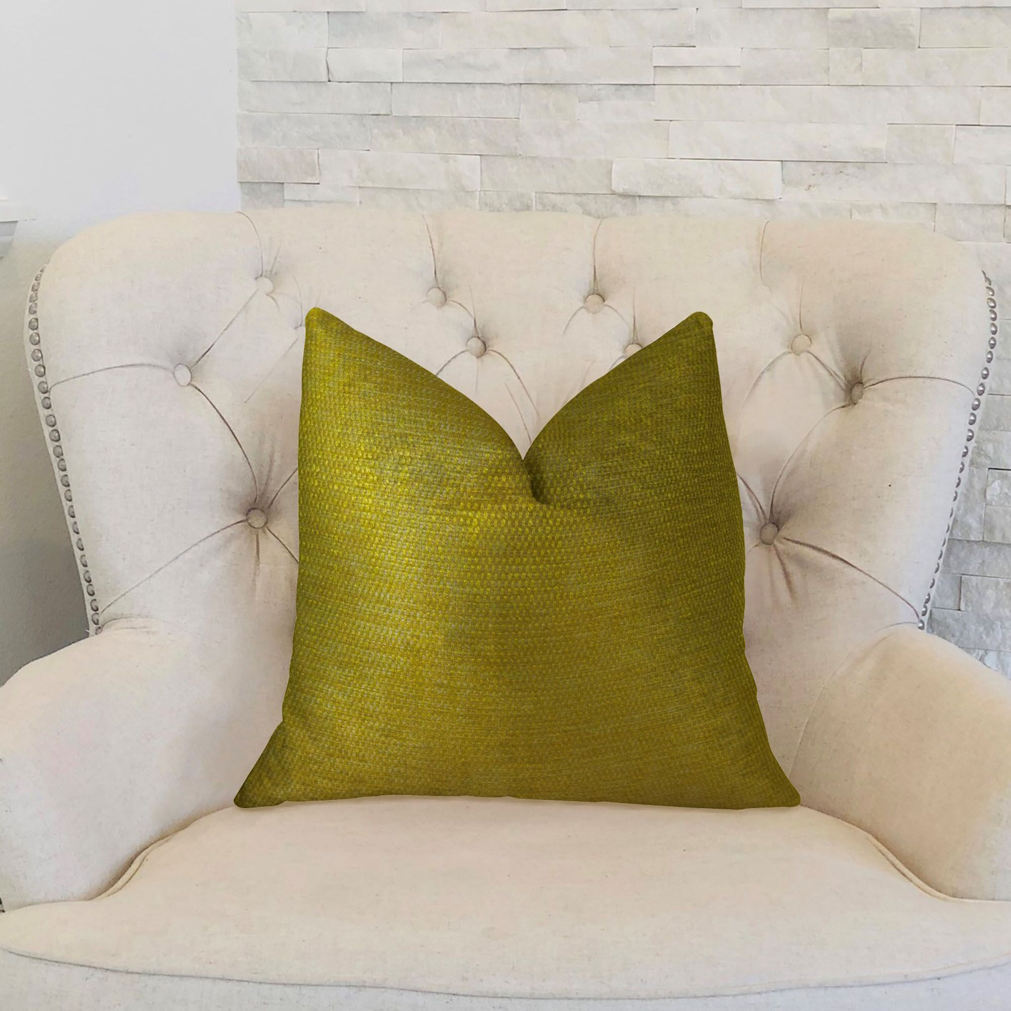 Lemon Curry Double Sided Cotton Lumbar Pillow Size: 12
