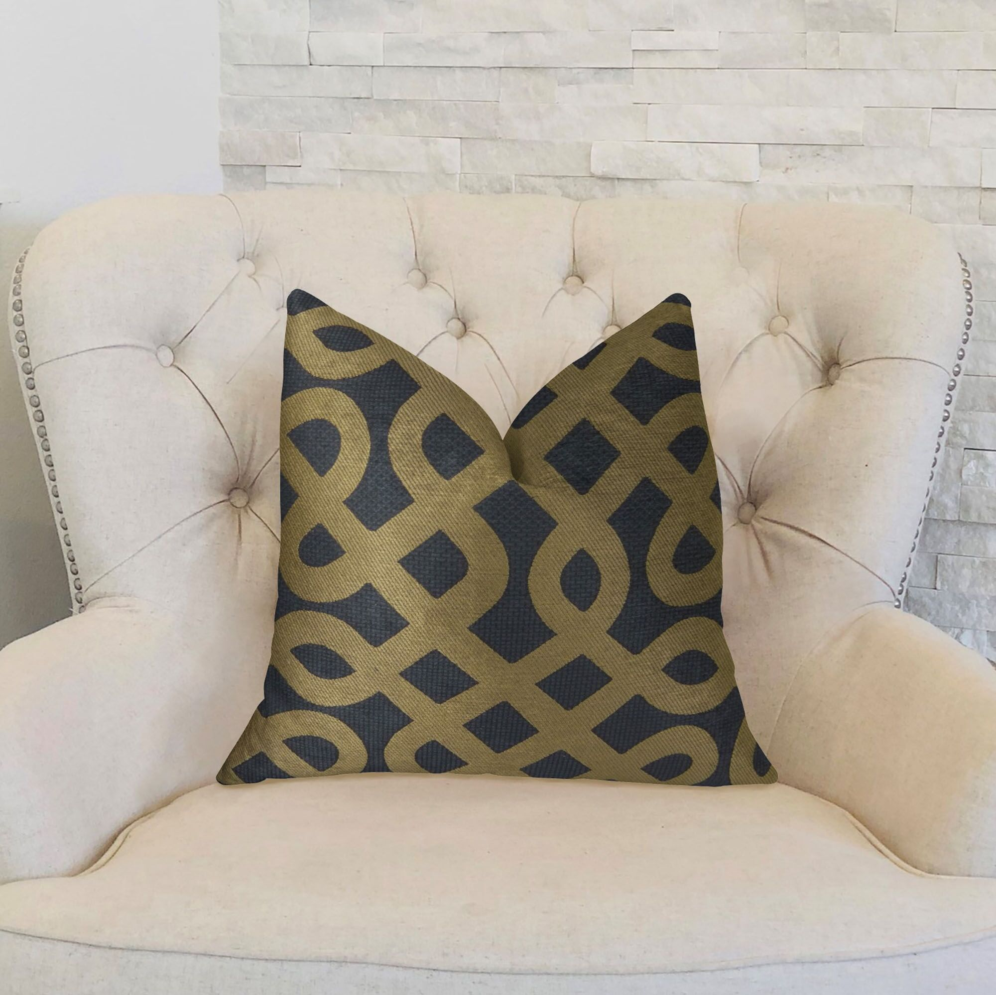 Graphic Maze Double Sided Throw Pillow Size: 22