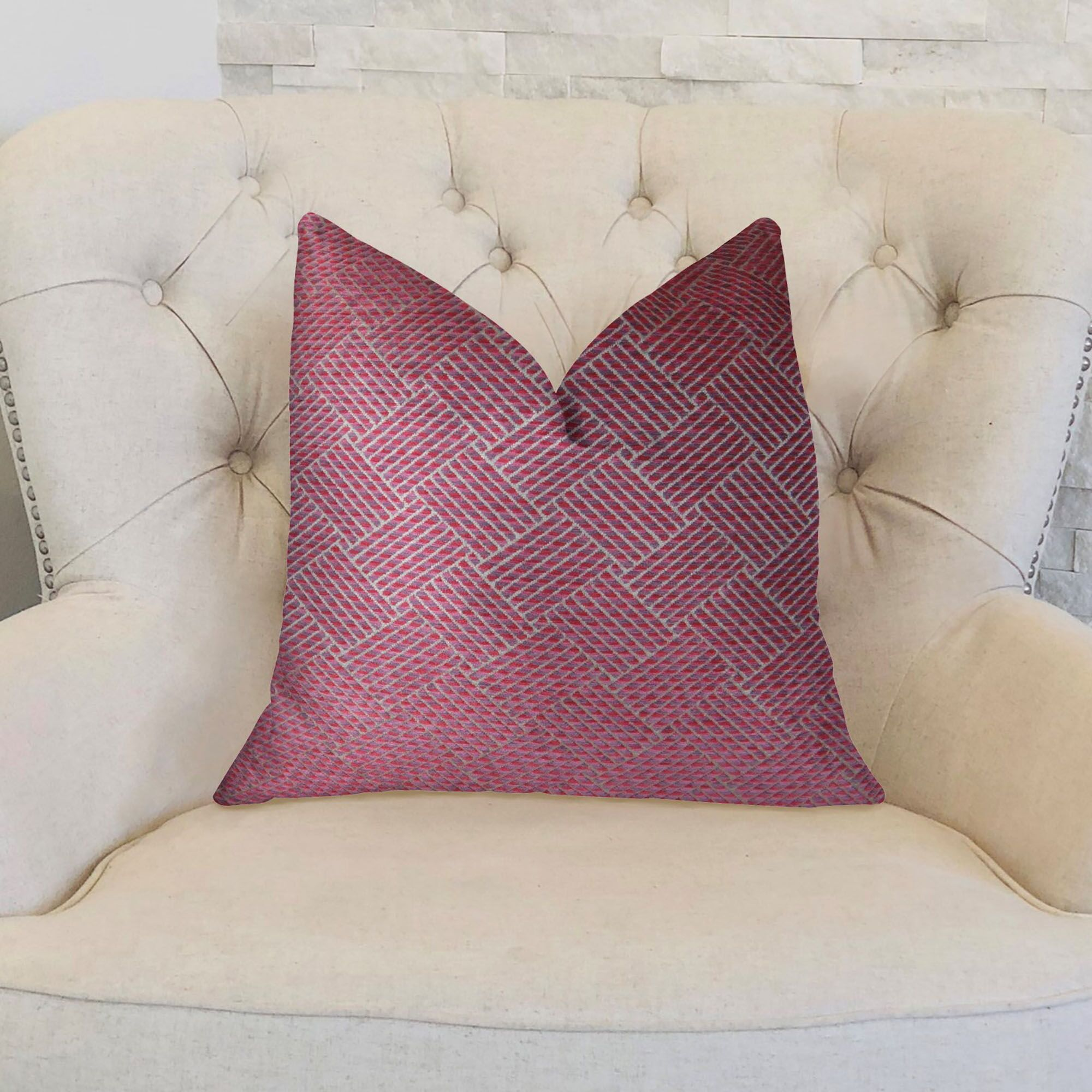 Marble Arch Double Sided Throw Pillow Size: 24