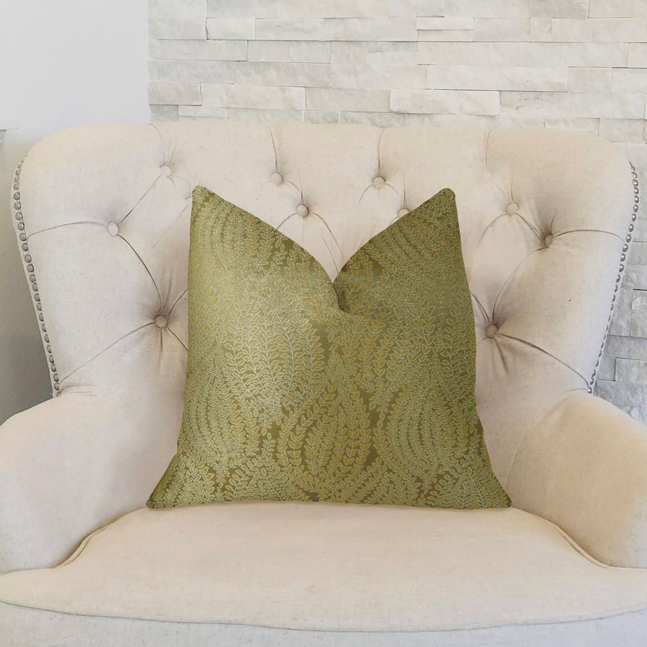 Leaf Pod Handmade Throw Pillow  Size: 20
