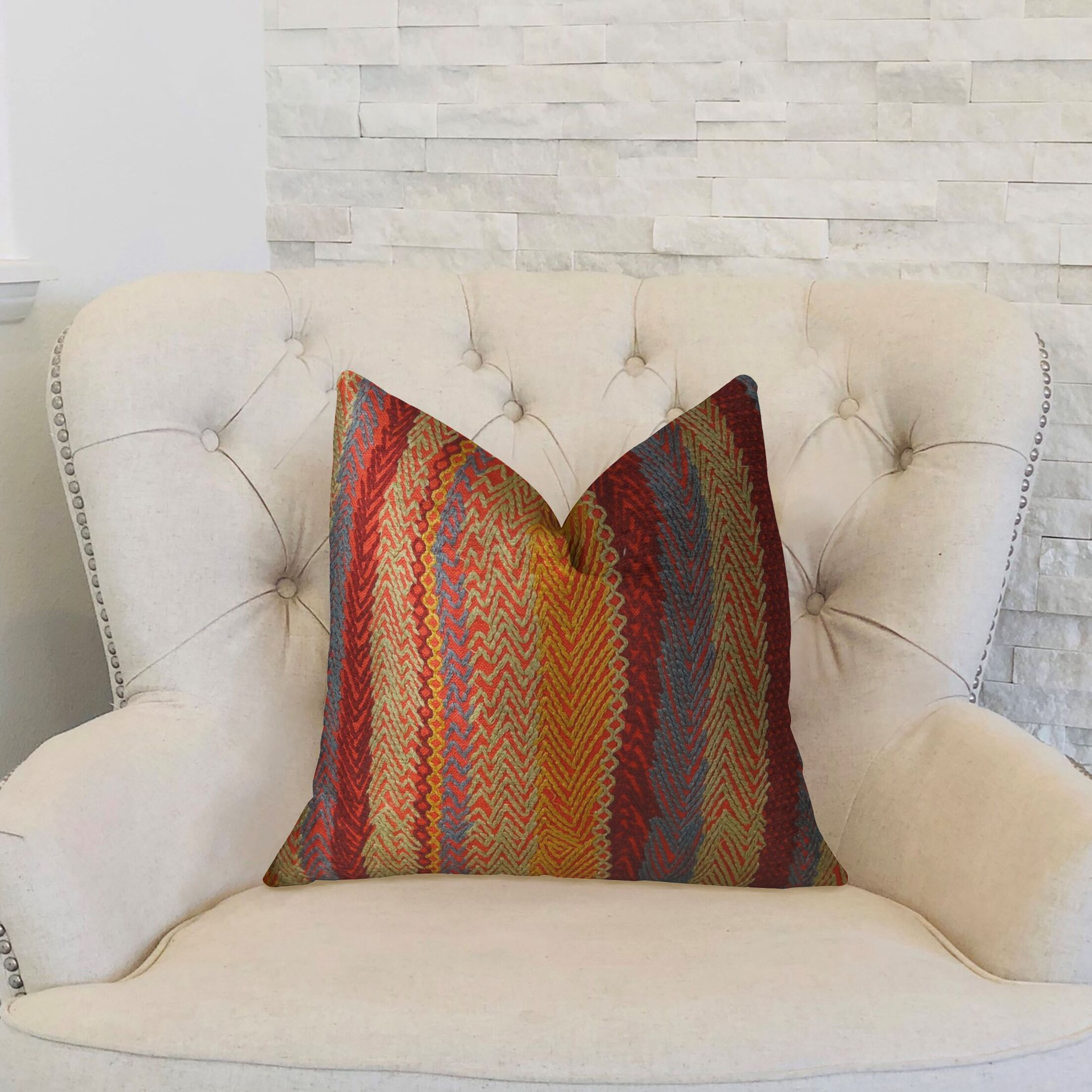 Earth Throw Pillow Size: 24