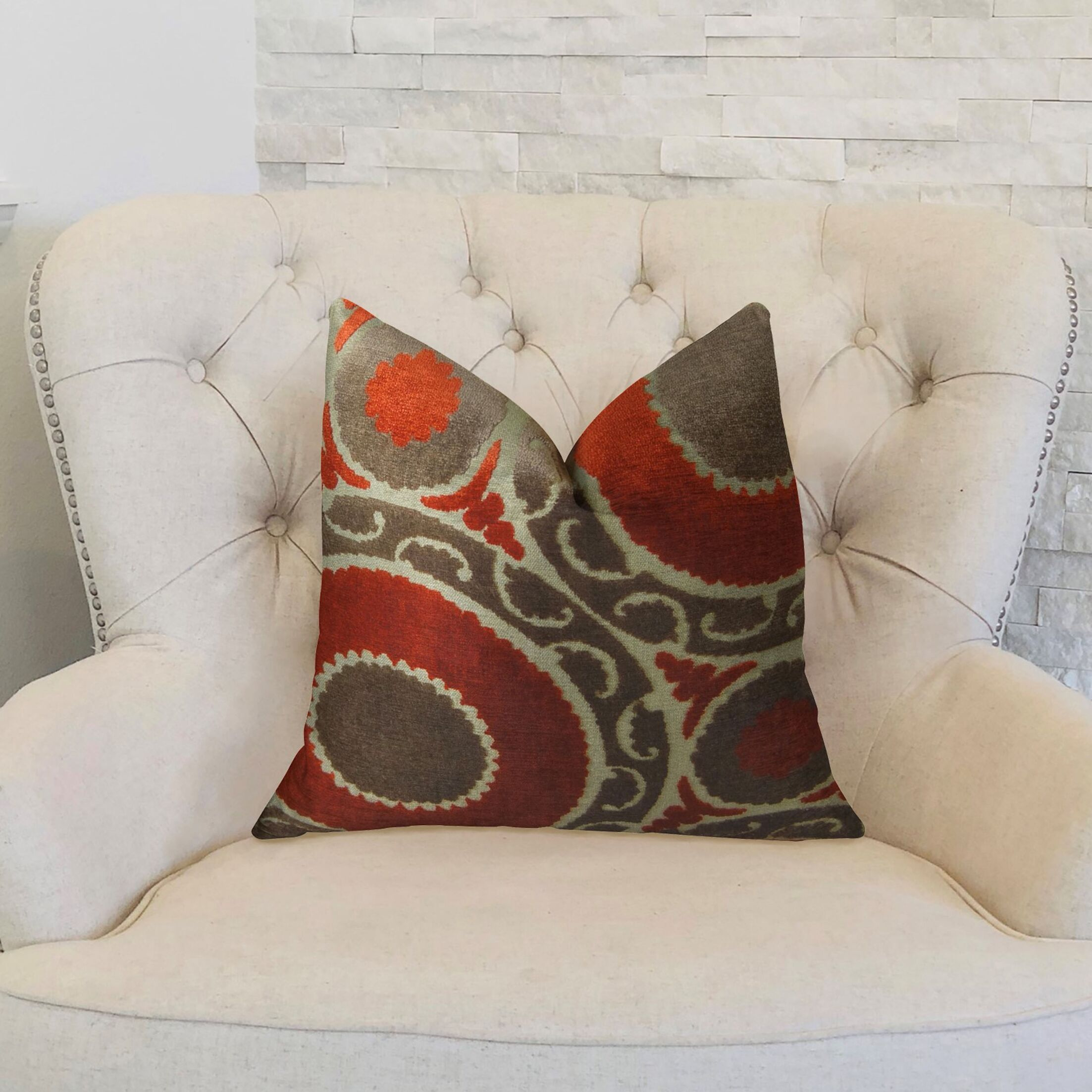Pomegranate Throw Pillow Size: 18