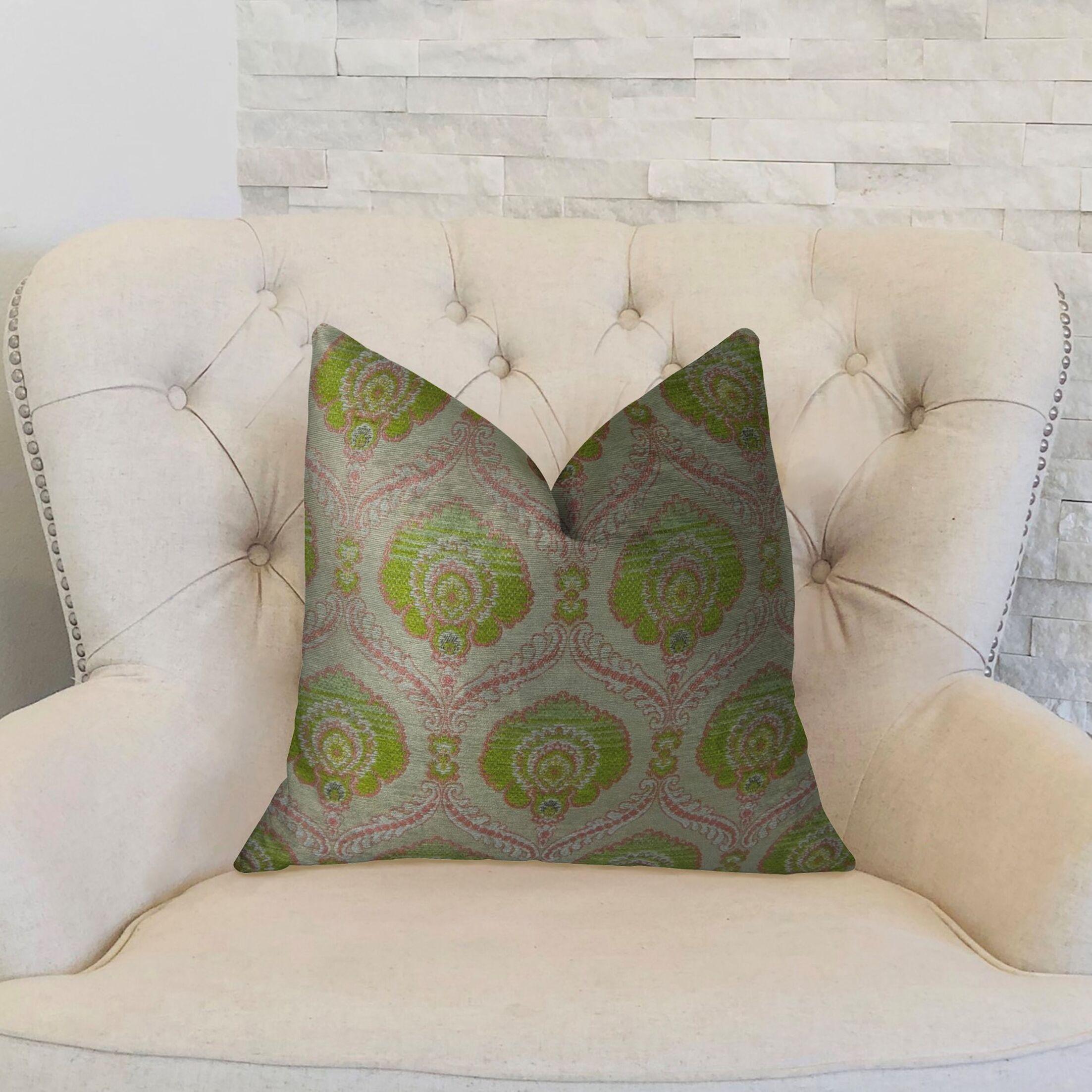 Tulip Handmade Throw Pillow  Size: 22