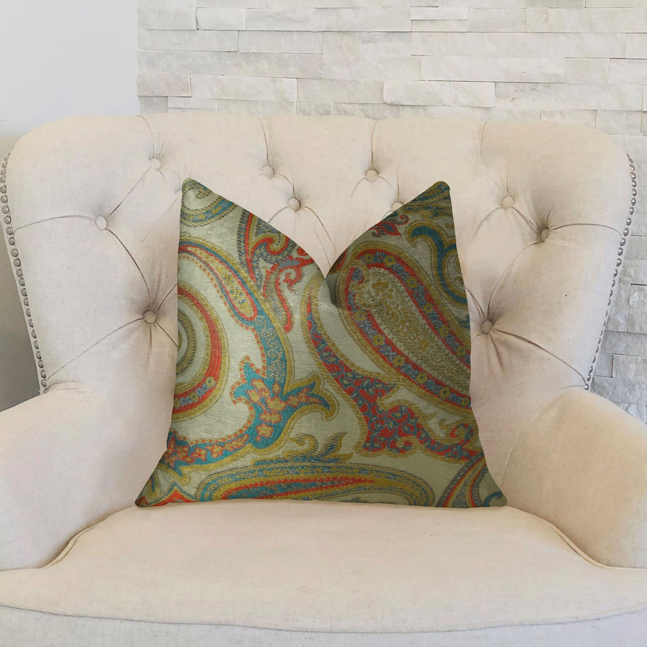 Paisley Cove Throw Pillow Size: 16