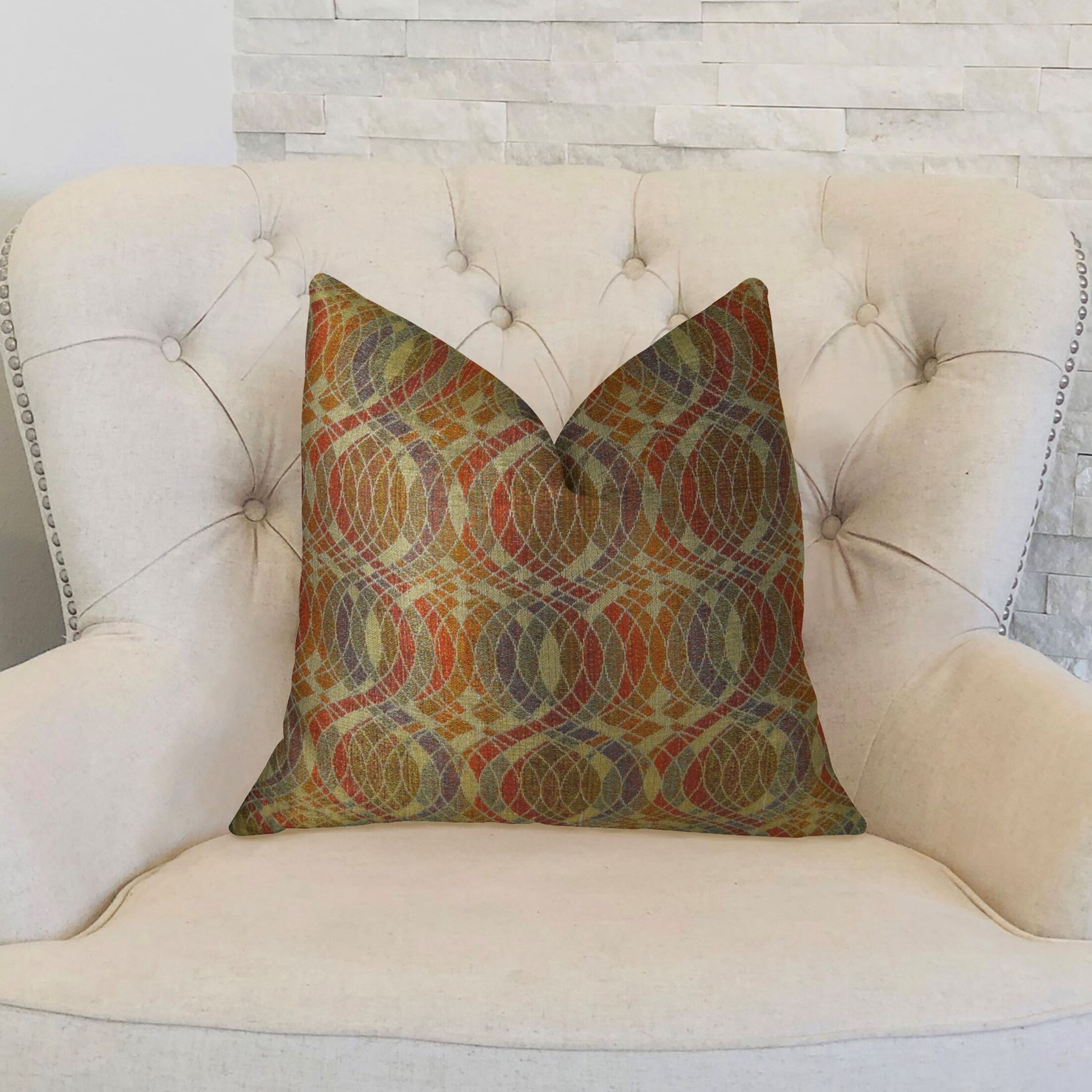 Orbitz Handmade Throw Pillow Size: 20
