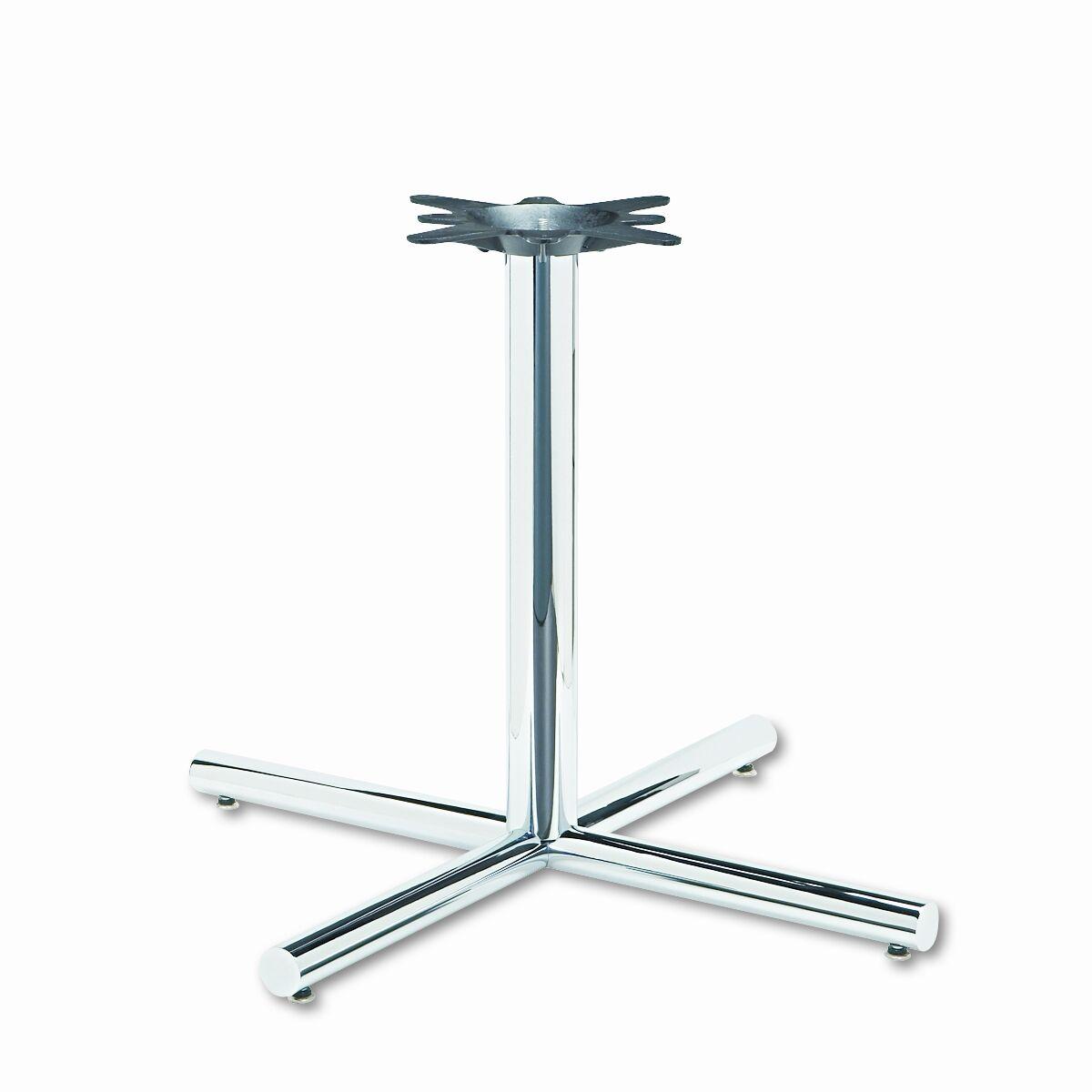 Single Column Steel Base, 36w x 36d x 27-7/8h, Chrome