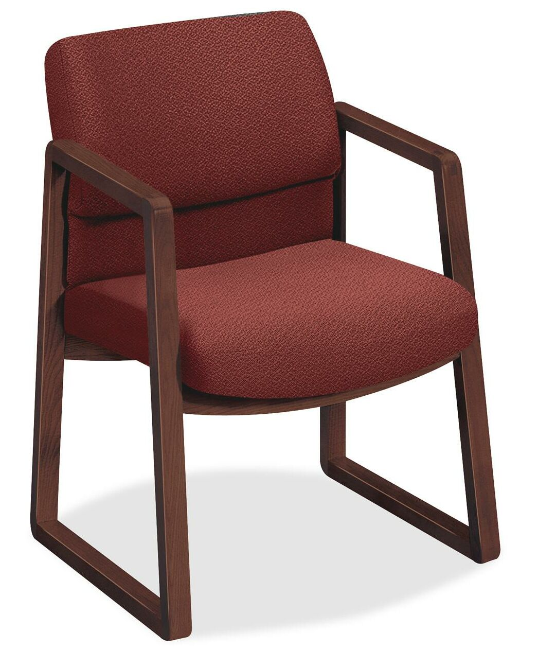 2403 Sled Base Arm Guest Chair Seat Color: Burgundy
