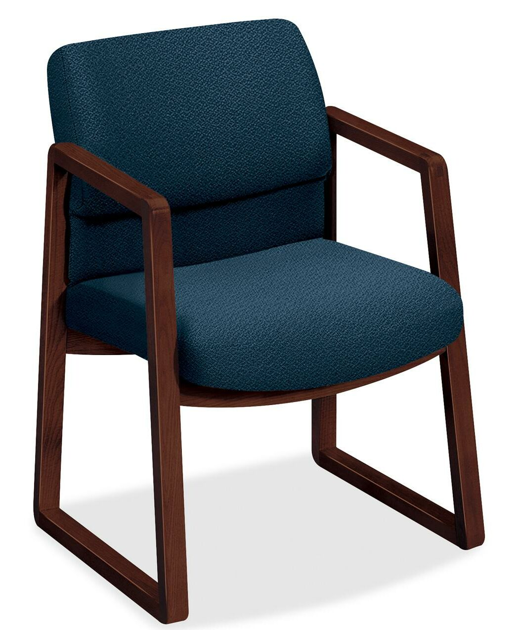 2403 Sled Base Arm Guest Chair Seat Color: Blue