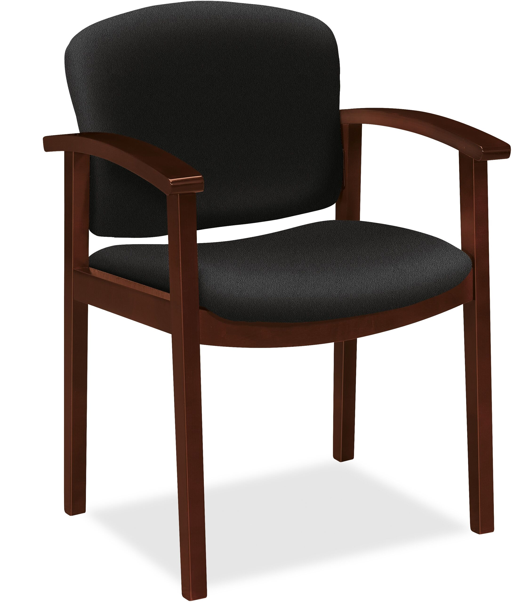 Guest Chair Seat Color: Black, Finish: Mocha