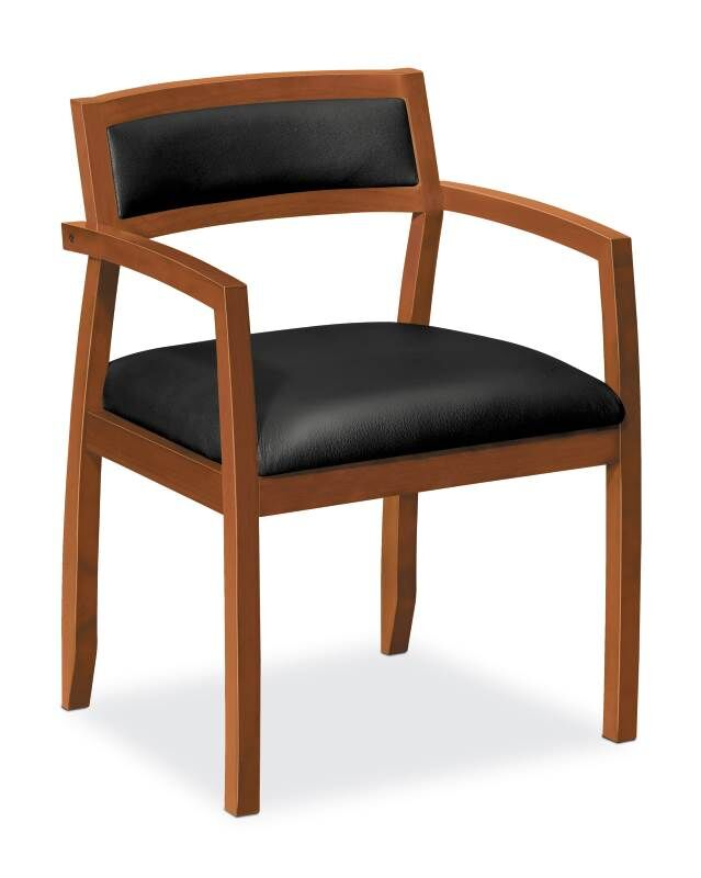 Leather Guest Chair Finish: Bourbon Cherry