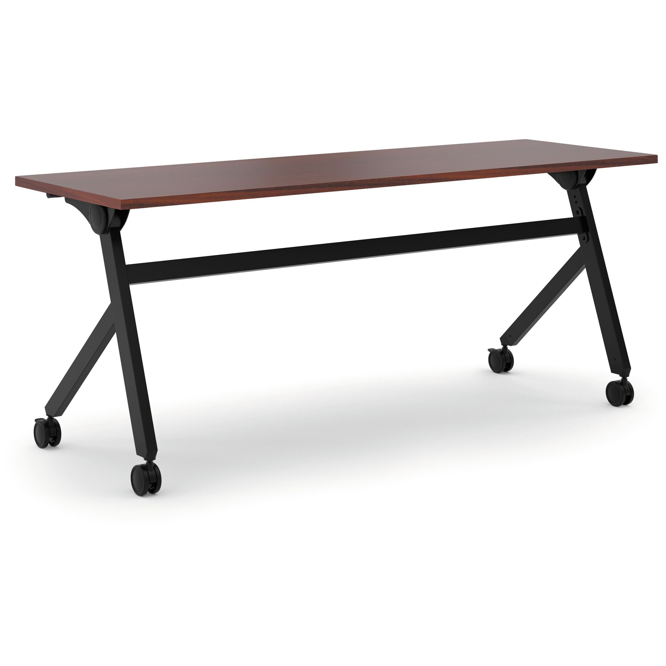 Flipper Training Table with Wheels Finish: Chestnut, Size: 29.3