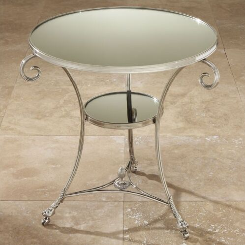 Draw Attention Tray Table Color: Nickel & Mirror