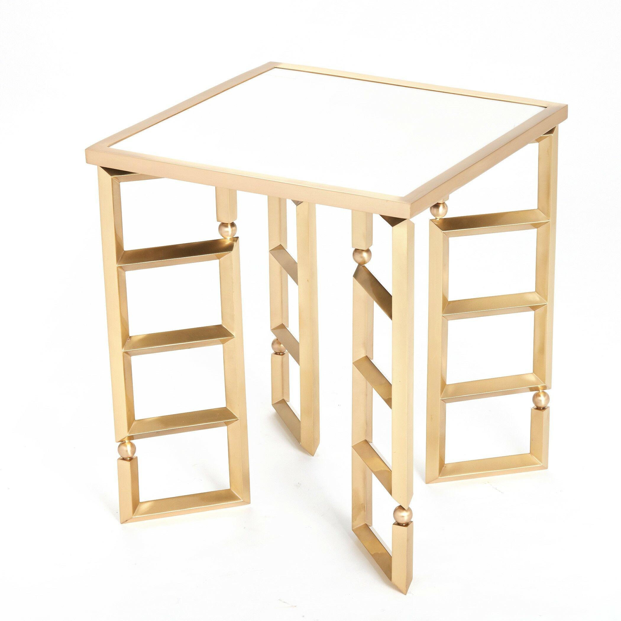 Beveled Leg End Table Color: Nickel