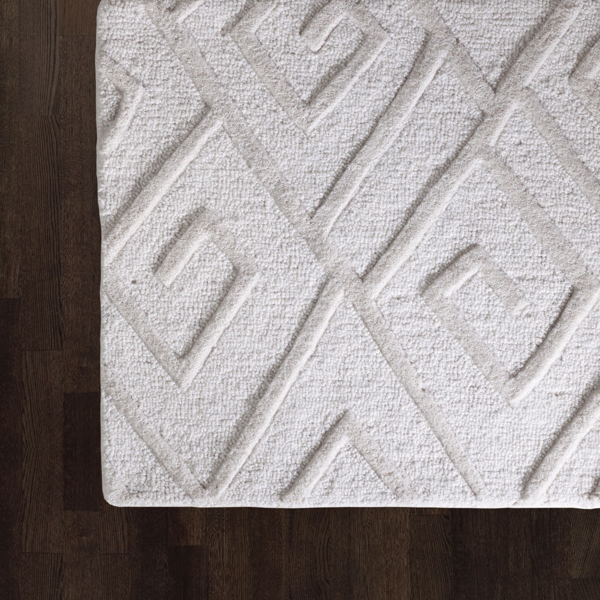 Maze Hand Tufted Ivory Area Rug Rug Size: Rectangle 6' x 9'